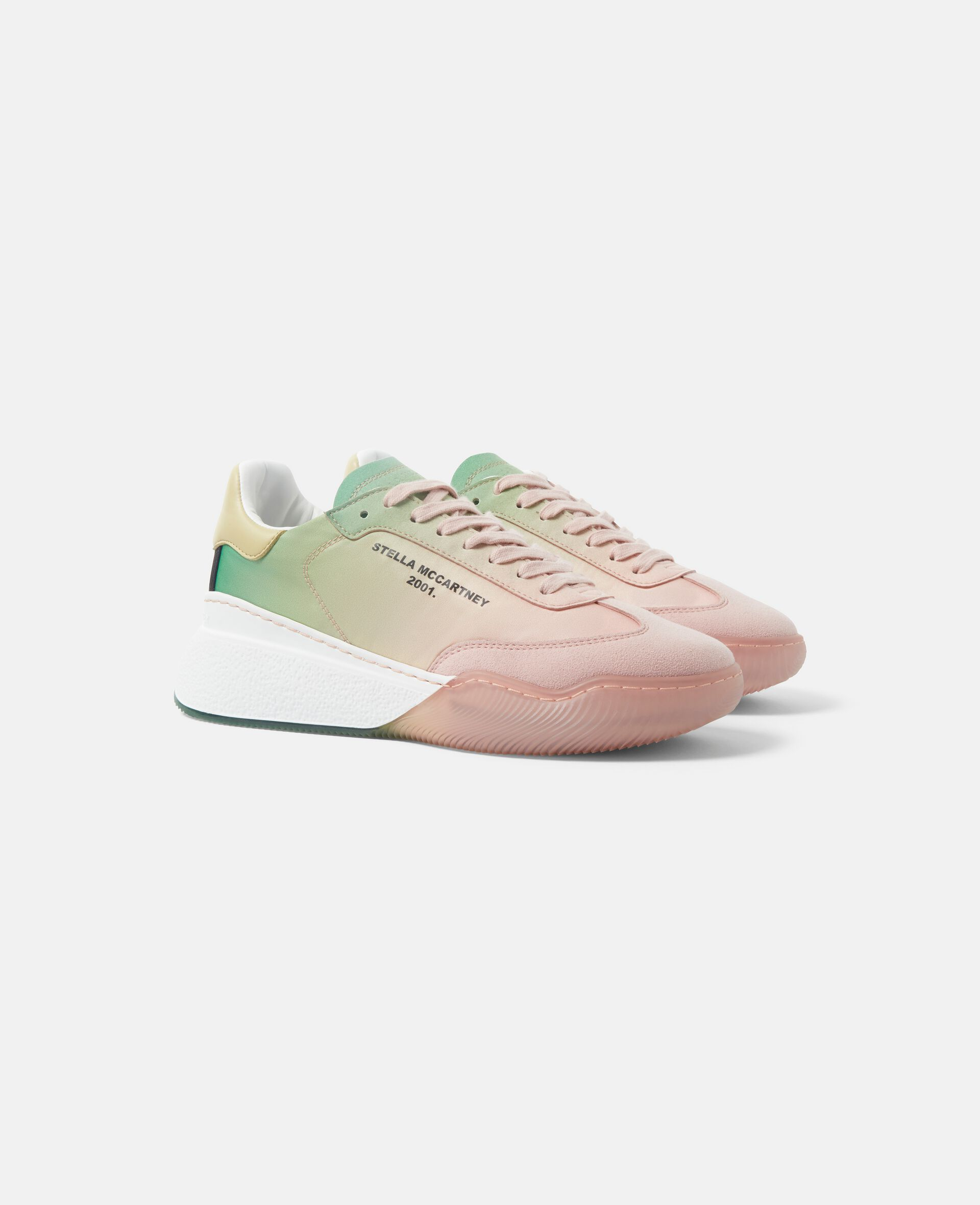 Loop Lace-up Sneakers-Pink-large image number 1