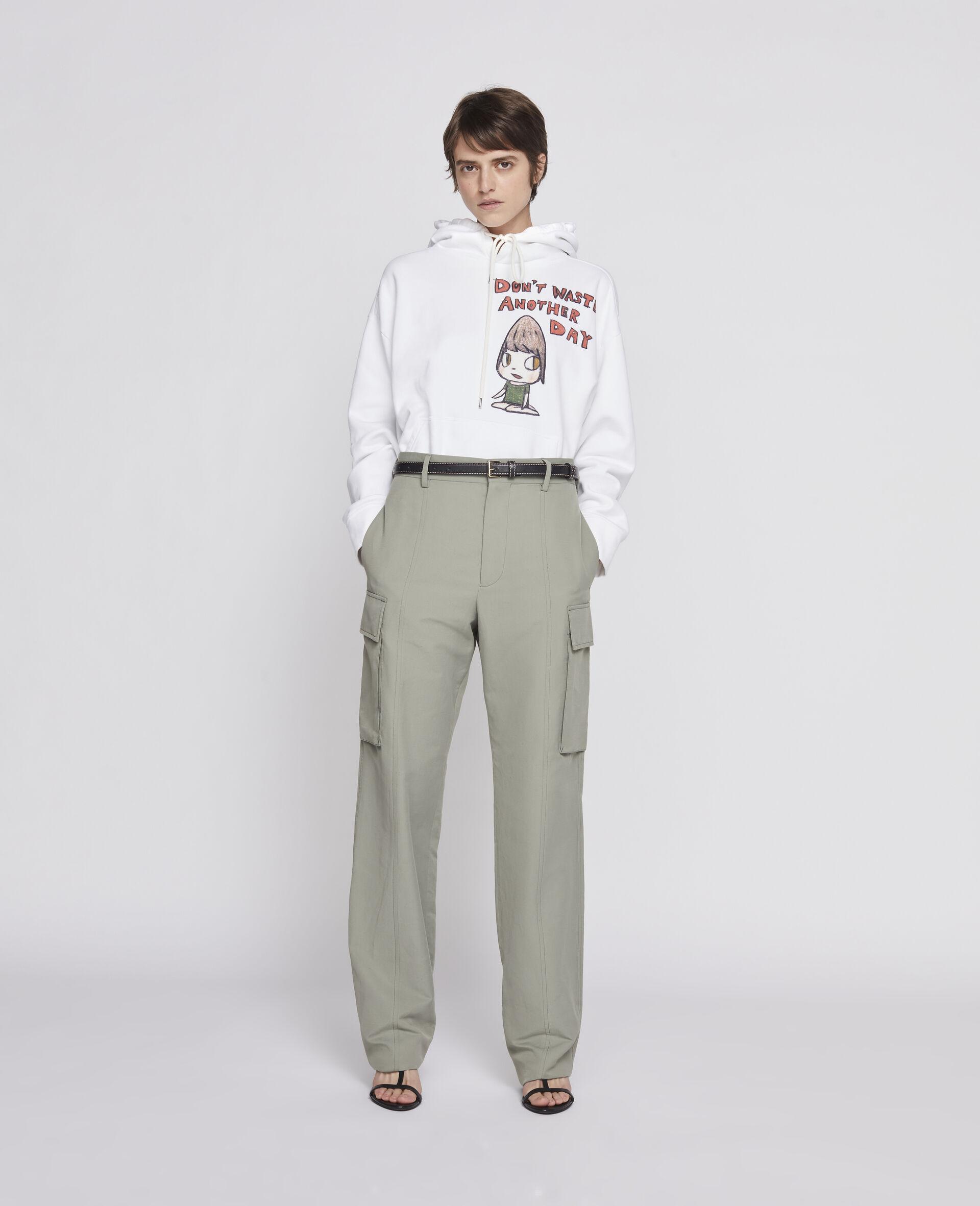 Sweat-shirt à capuche Nara en coton biologique-Blanc-large image number 3