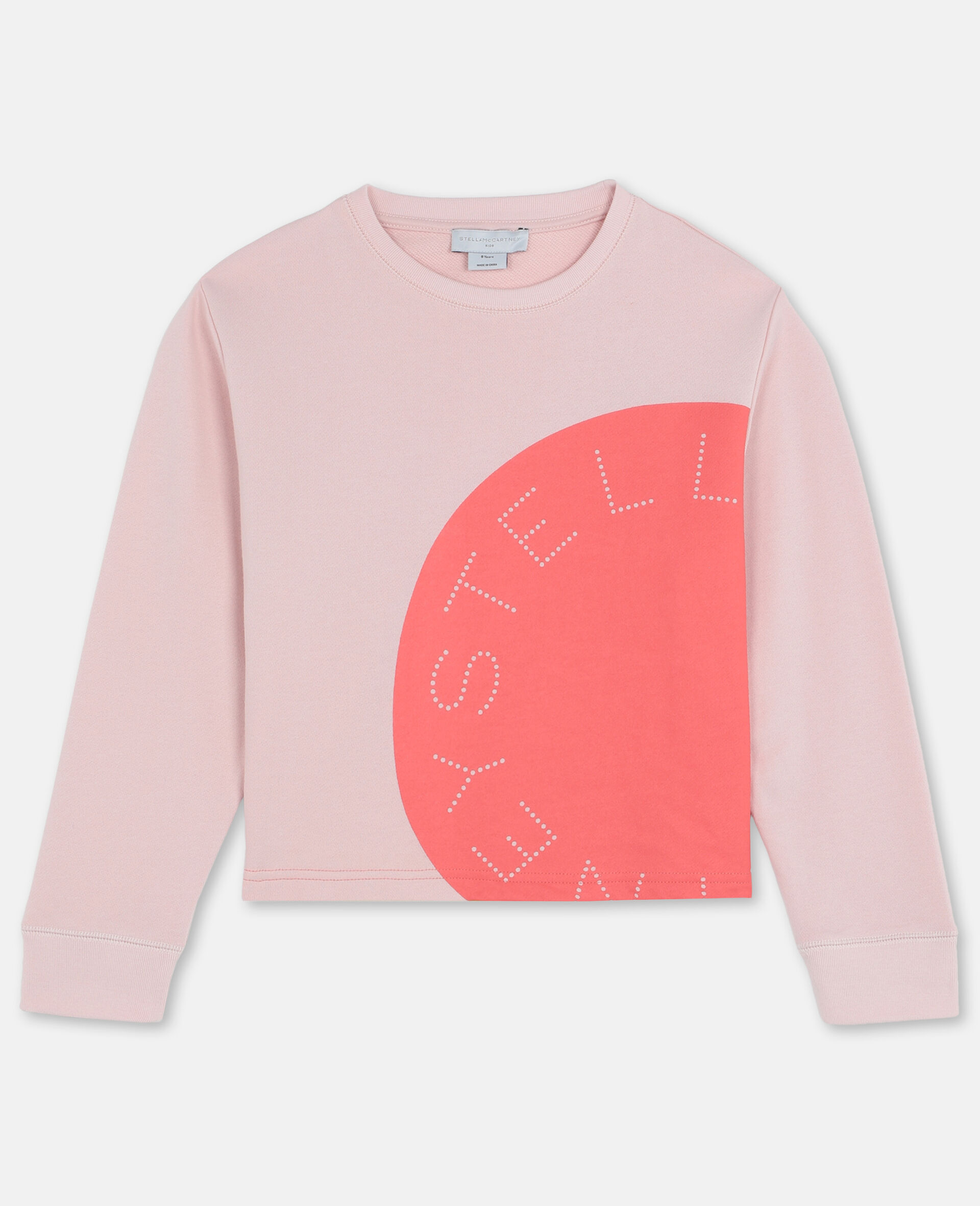 Logo Cotton Fleece Active Sweatshirt-Pink-large