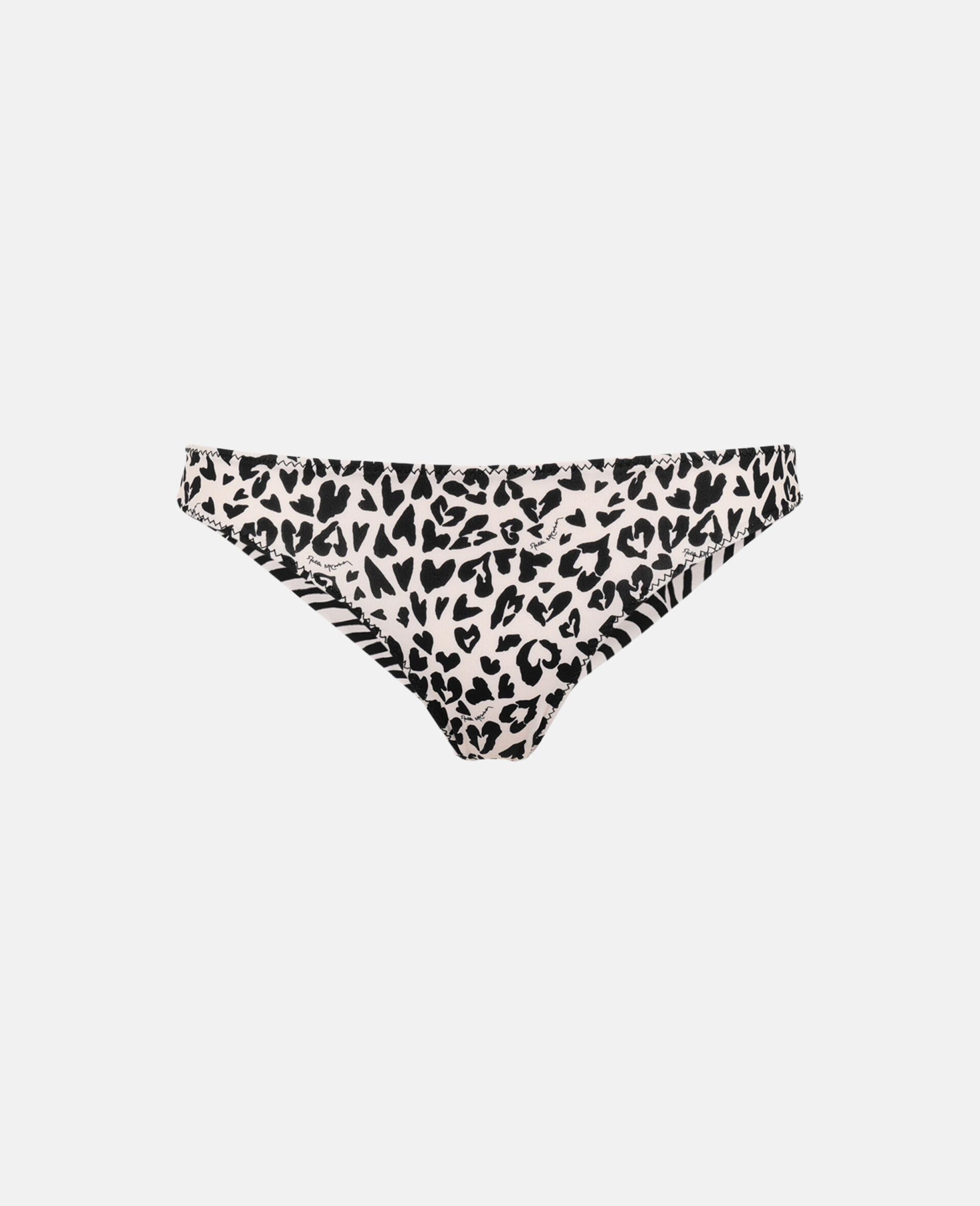 Animal Mix Brazilian Bikini Bottoms-Black-large image number 0