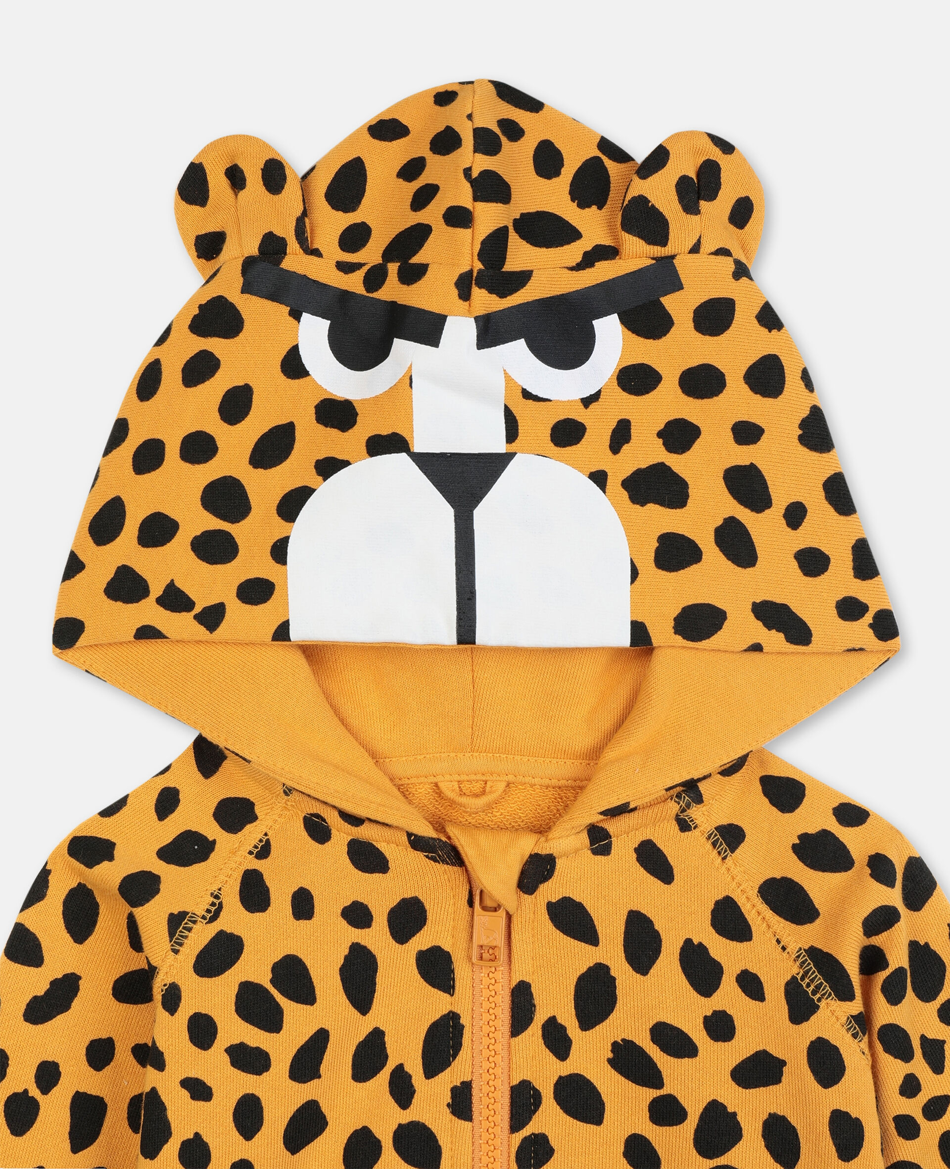 Cheetah Dots Cotton Hoodie -Multicolour-large image number 2
