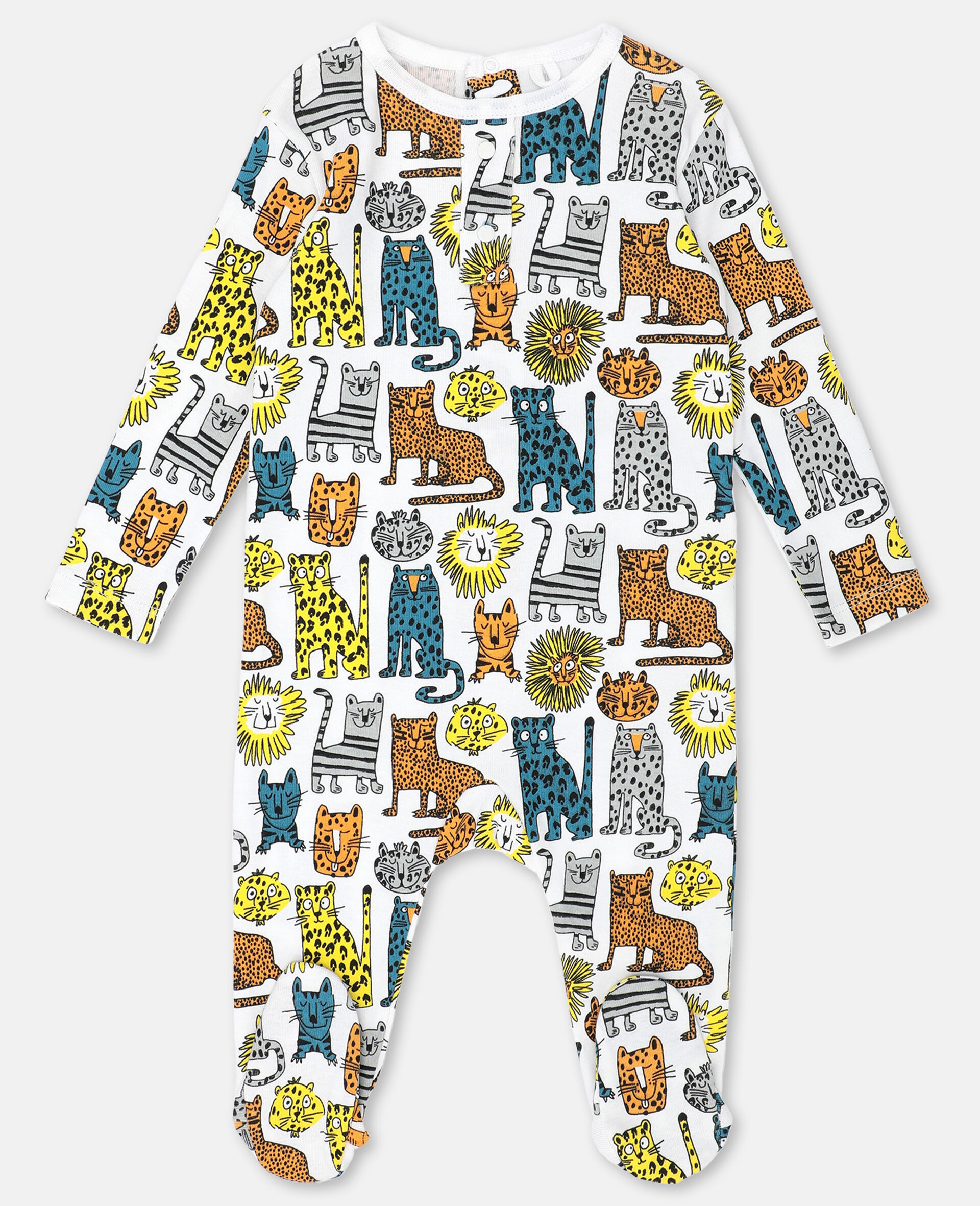 Wild Cats Jersey Rib Maternity Set -Multicolour-large image number 3