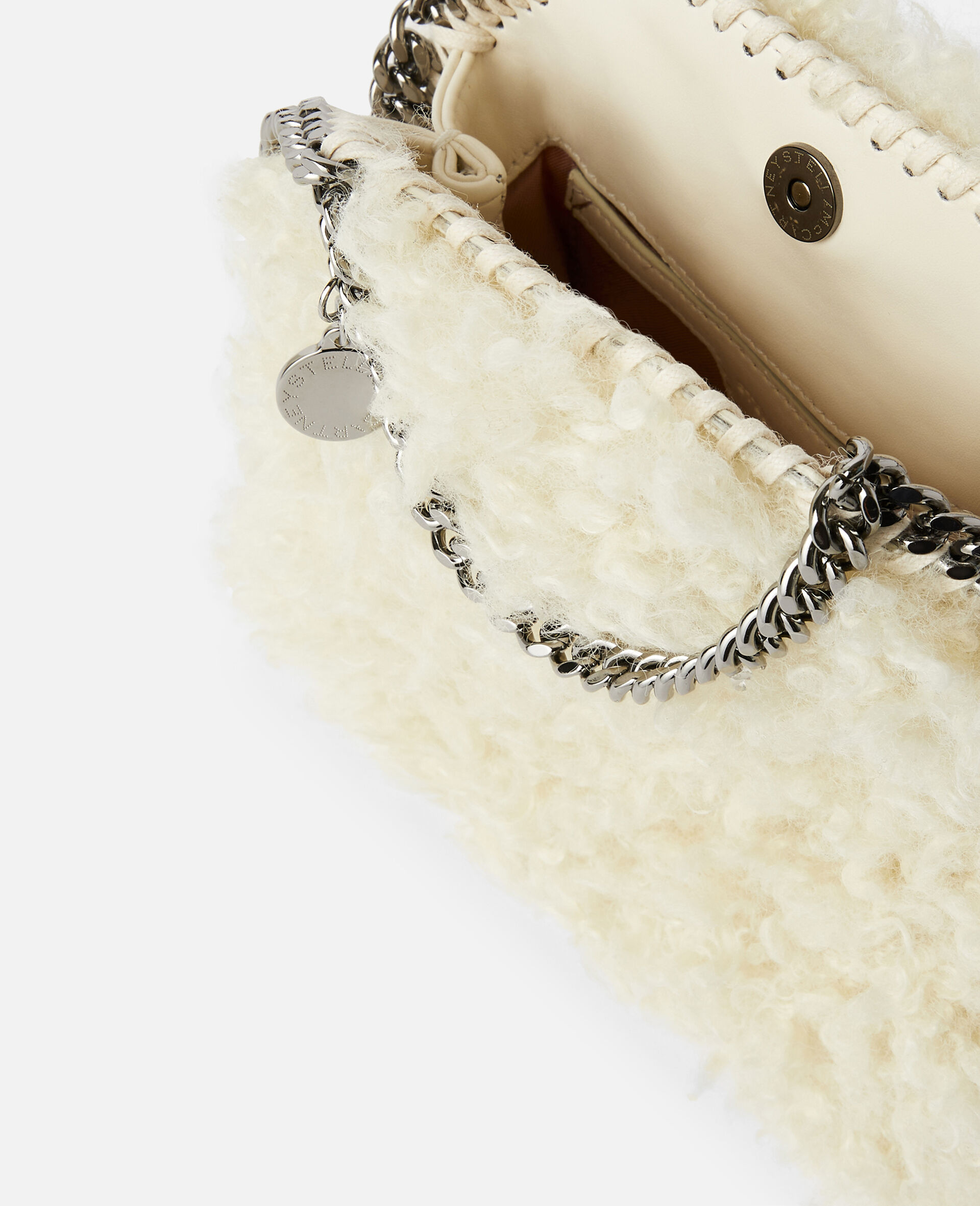 Falabella FFF Tiny Tote-White-large image number 3