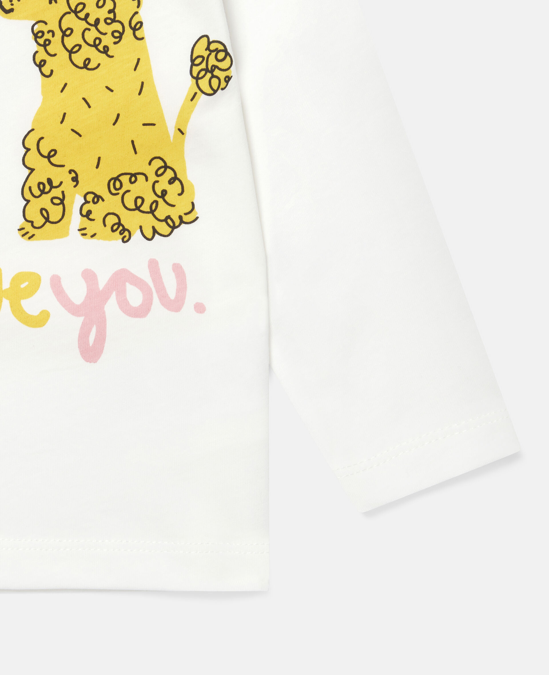 Love Poodles Cotton Top-White-large image number 2
