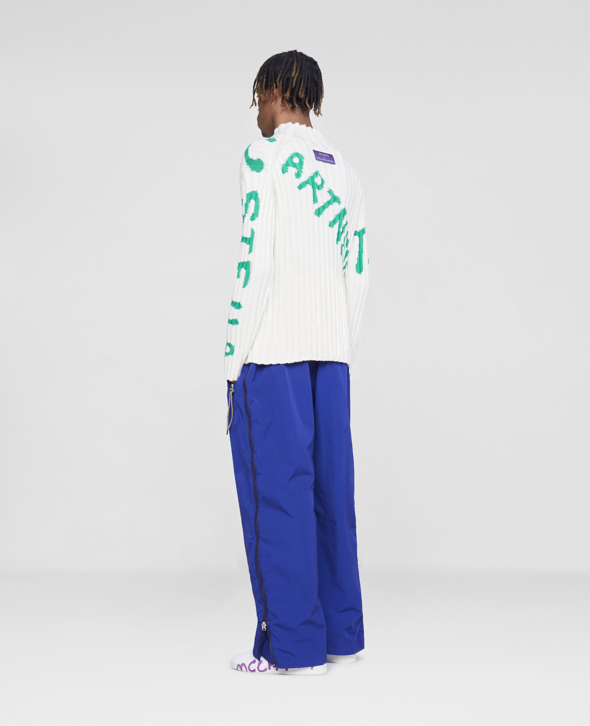 Zip Trousers-Blue-large image number 2