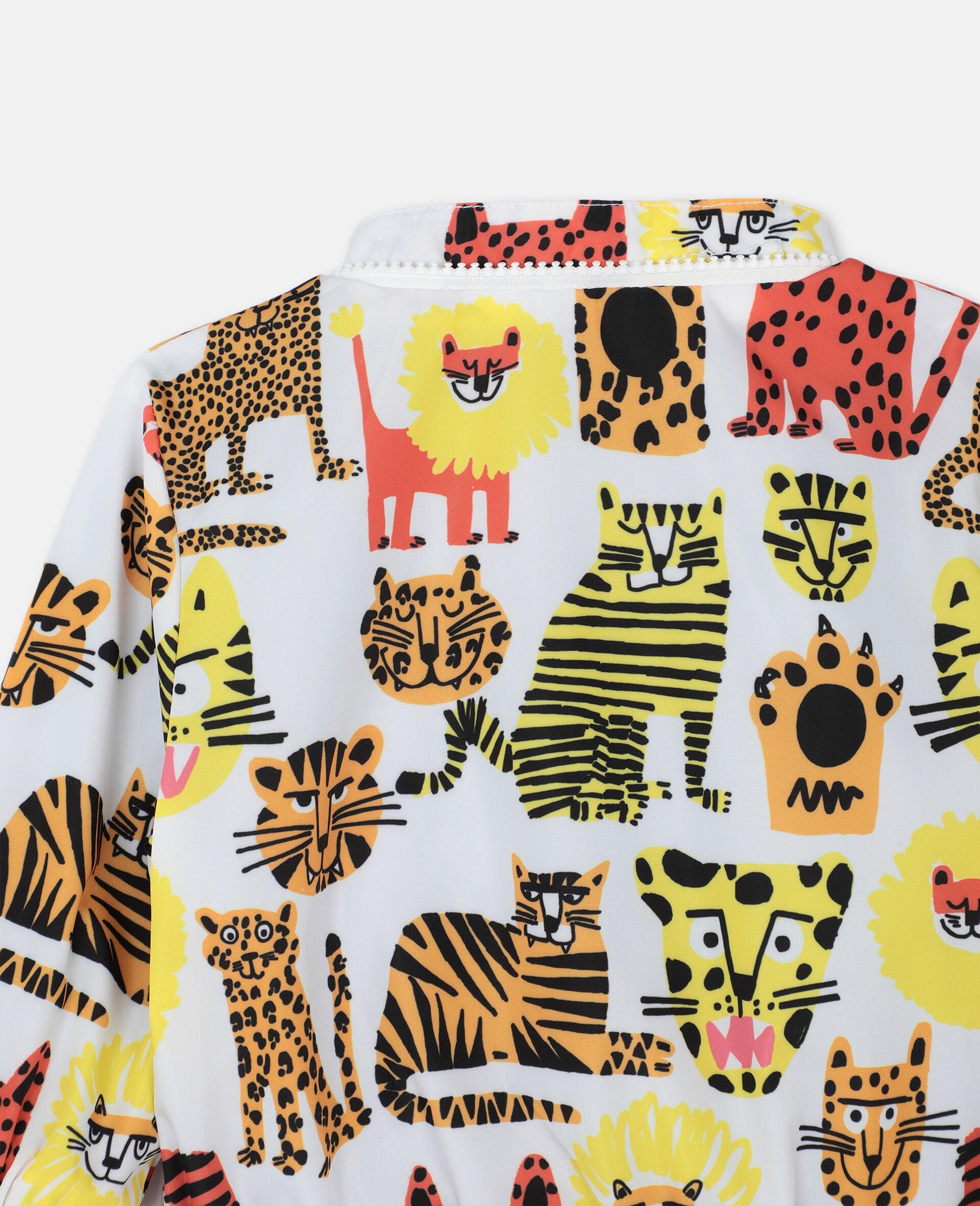 Veste à motif chats sauvages -Jaune-large image number 2