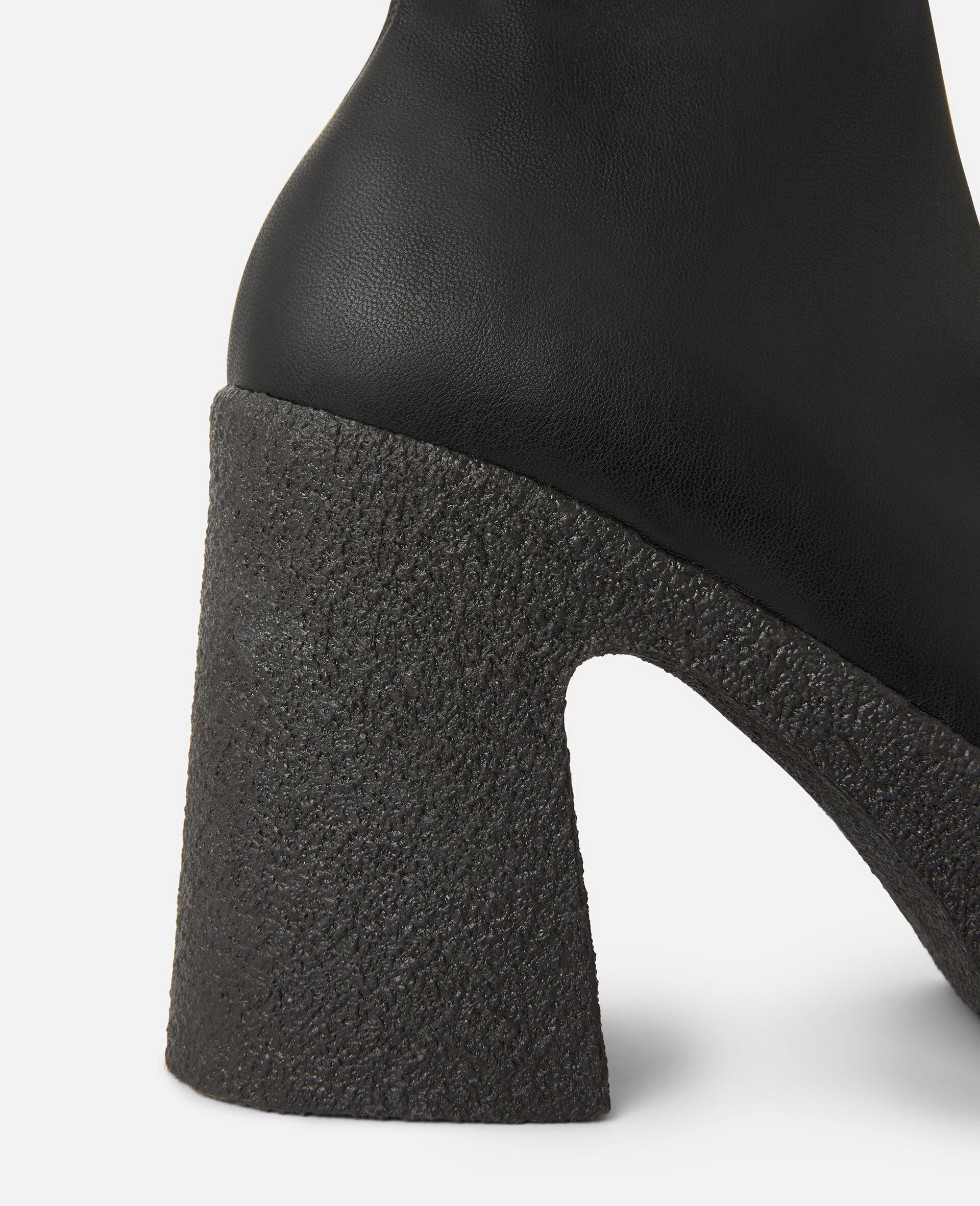 粗跟踝靴 -黑色-large image number 3