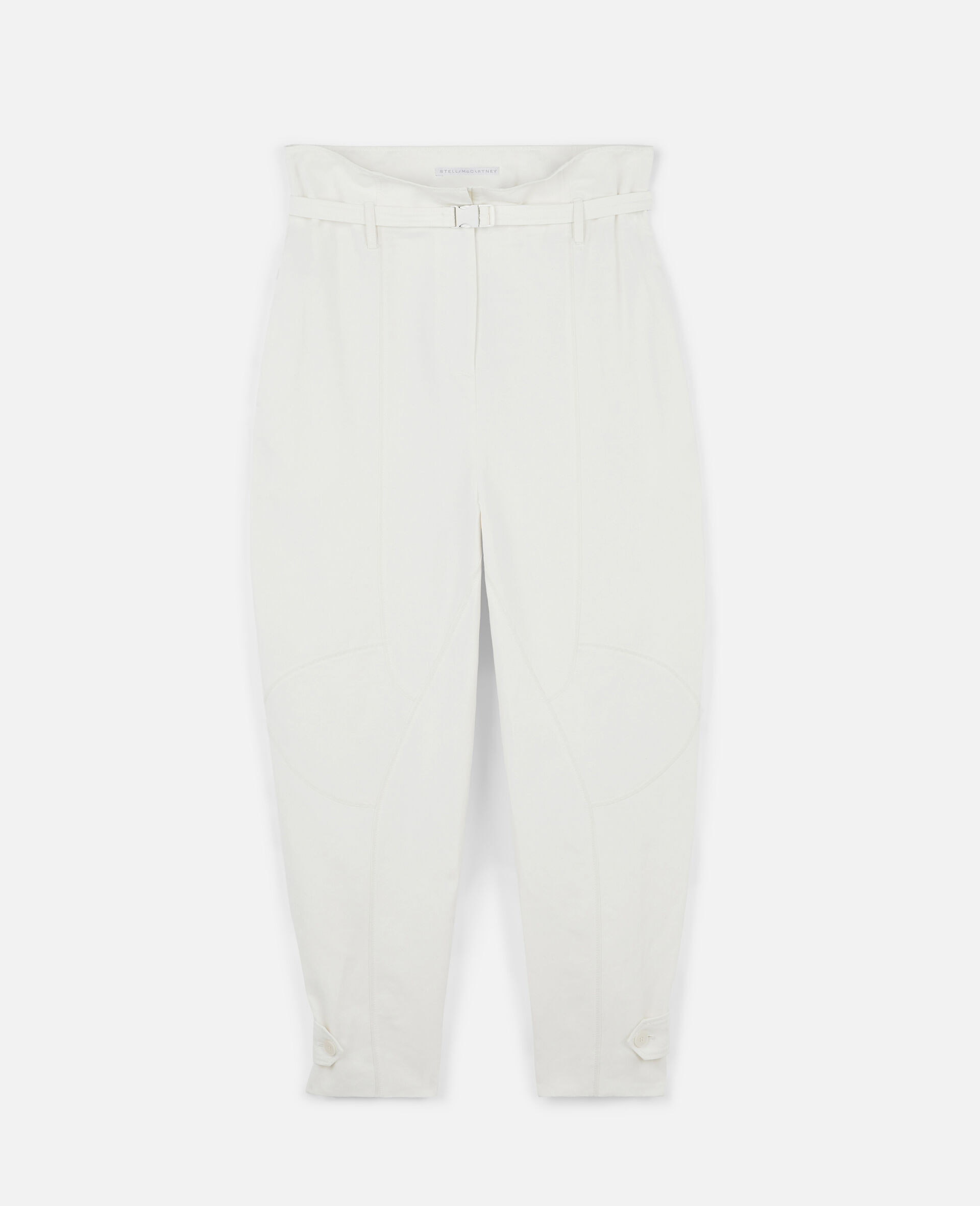 Daisy Tapered Trousers-White-large image number 0