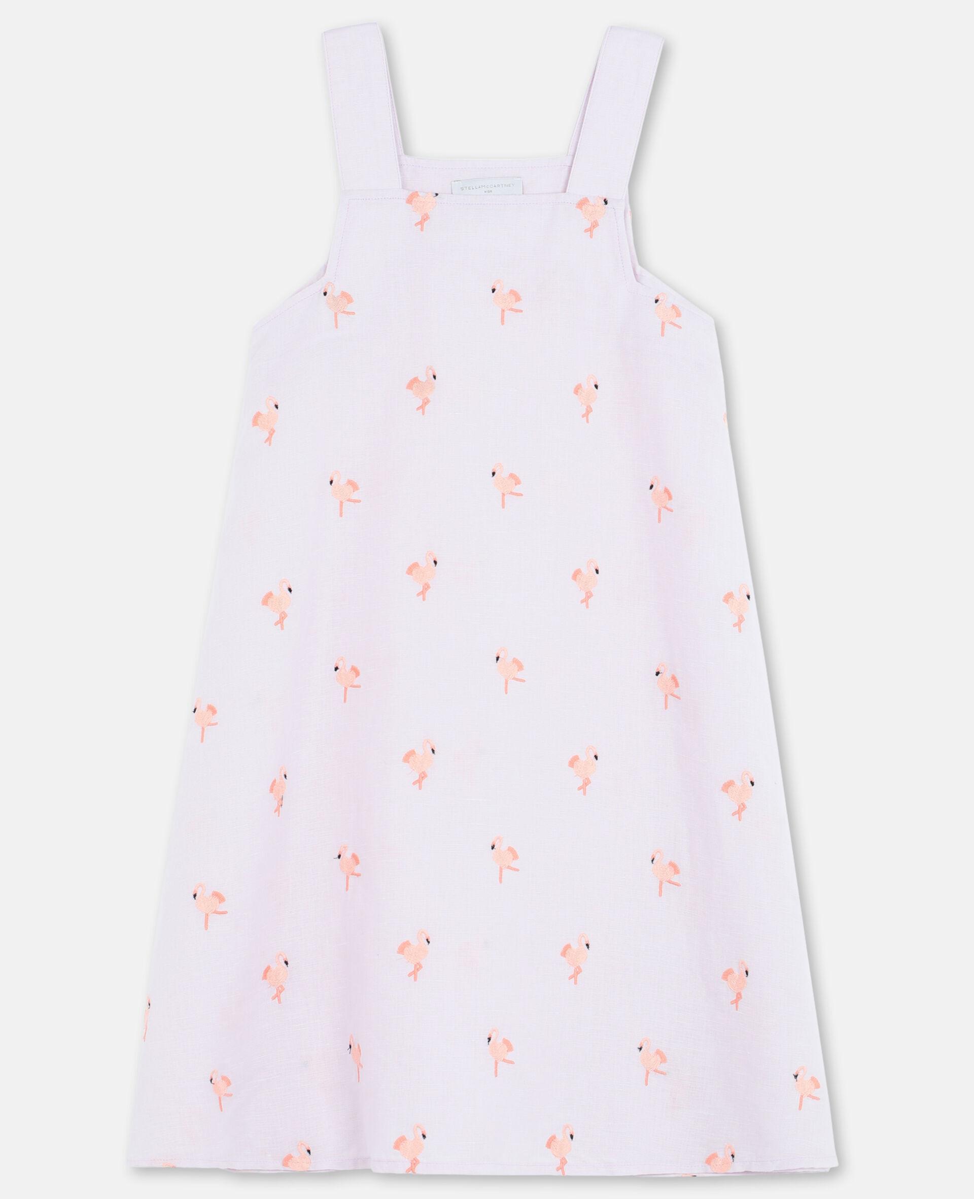 Kleid mit Flamingo-Stickerei-Rose-large image number 0