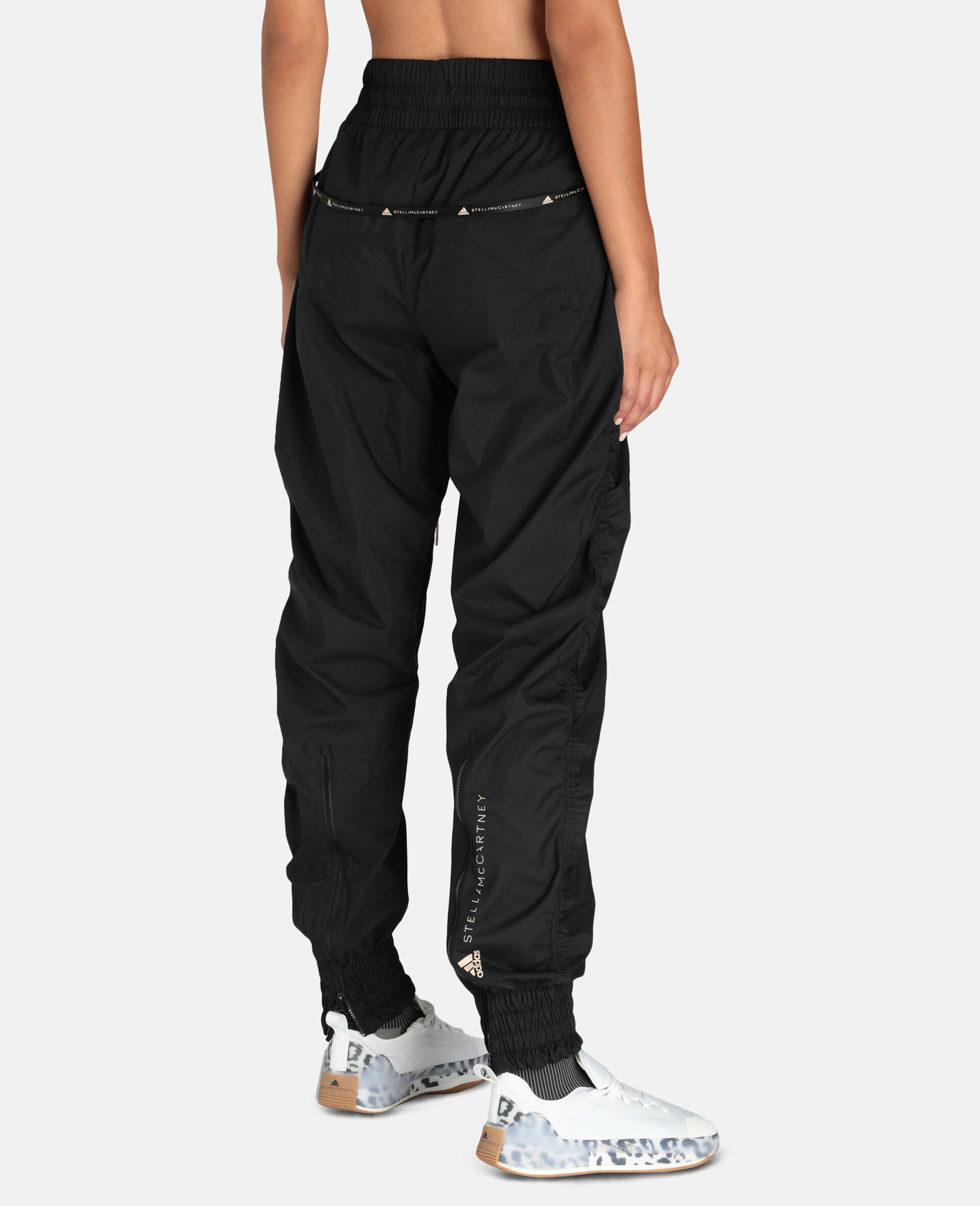 Black Woven Training Pants-Black-large image number 2