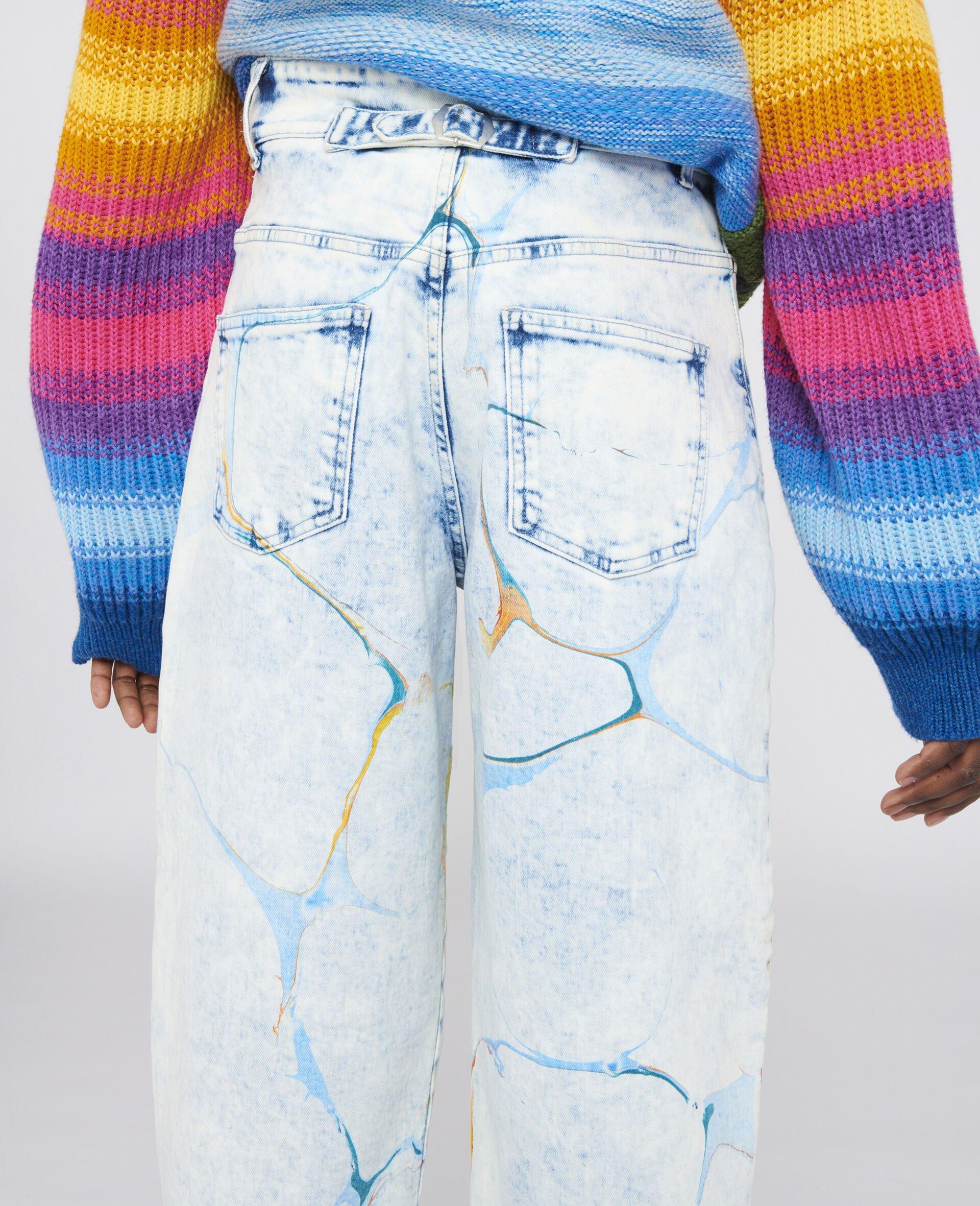 直筒牛仔裤-蓝色-large image number 3