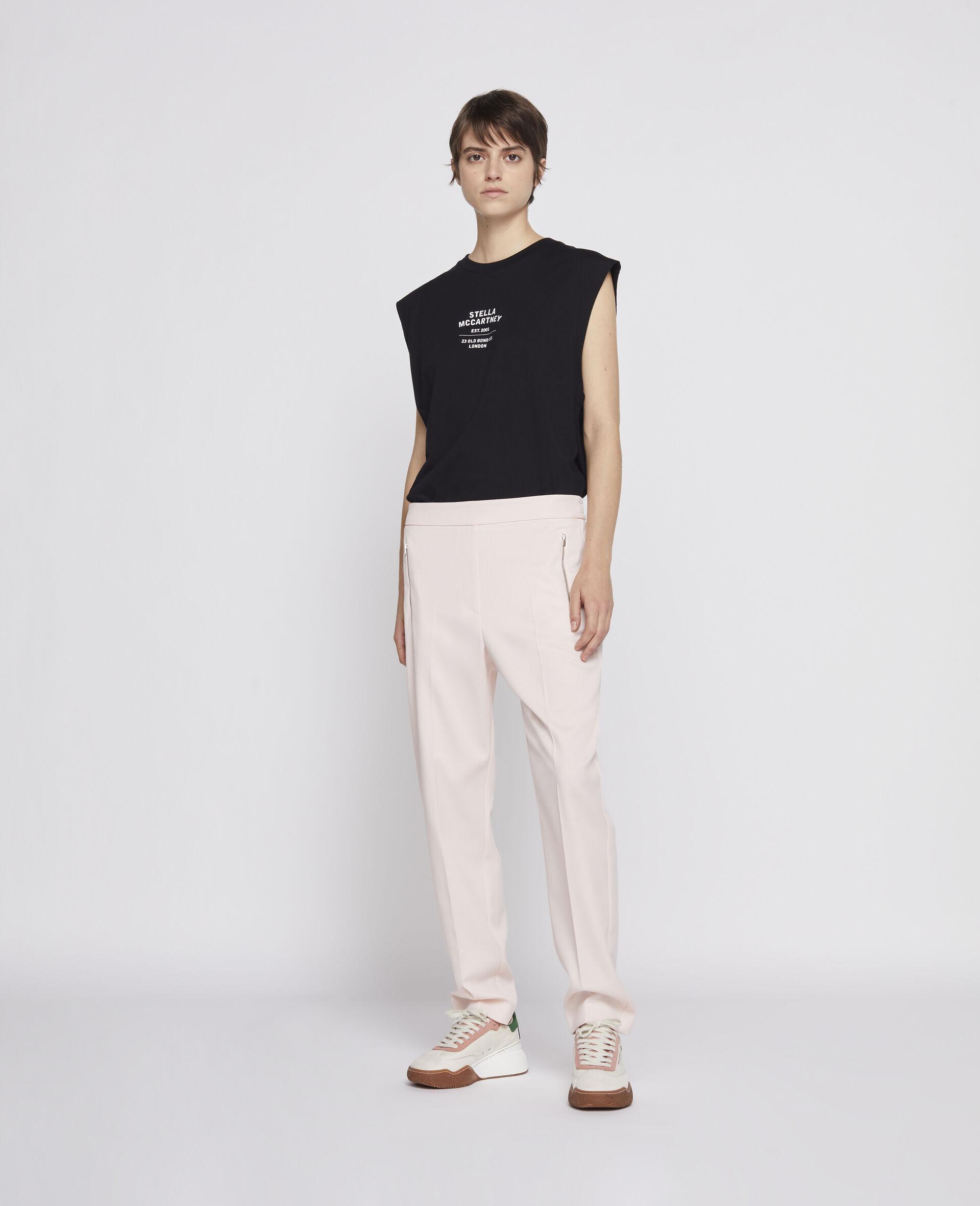 23 OBS Sleevless T-shirt-Black-large image number 3