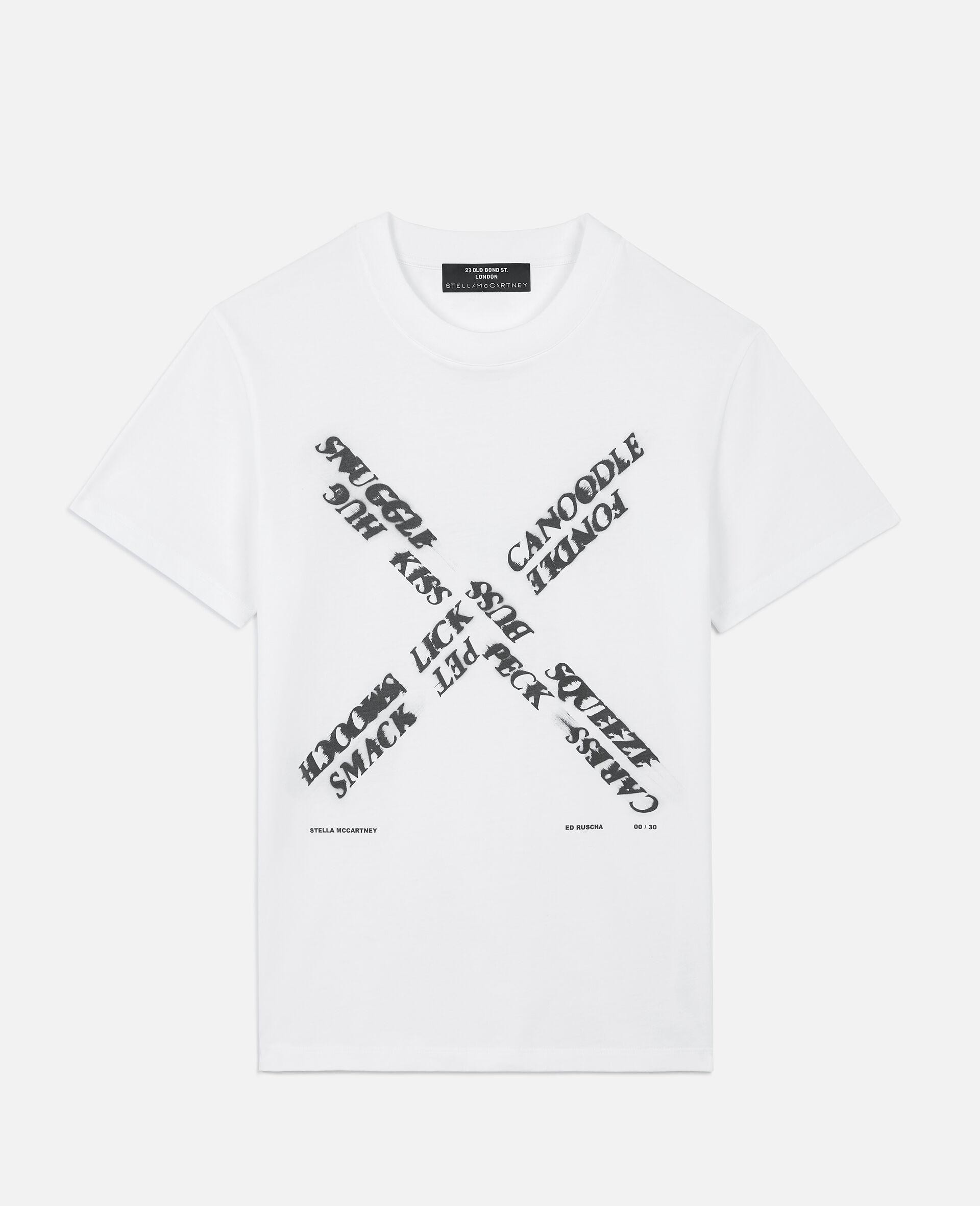 "Ed Ruscha ""X"" T-shirt-White-large image number 0"