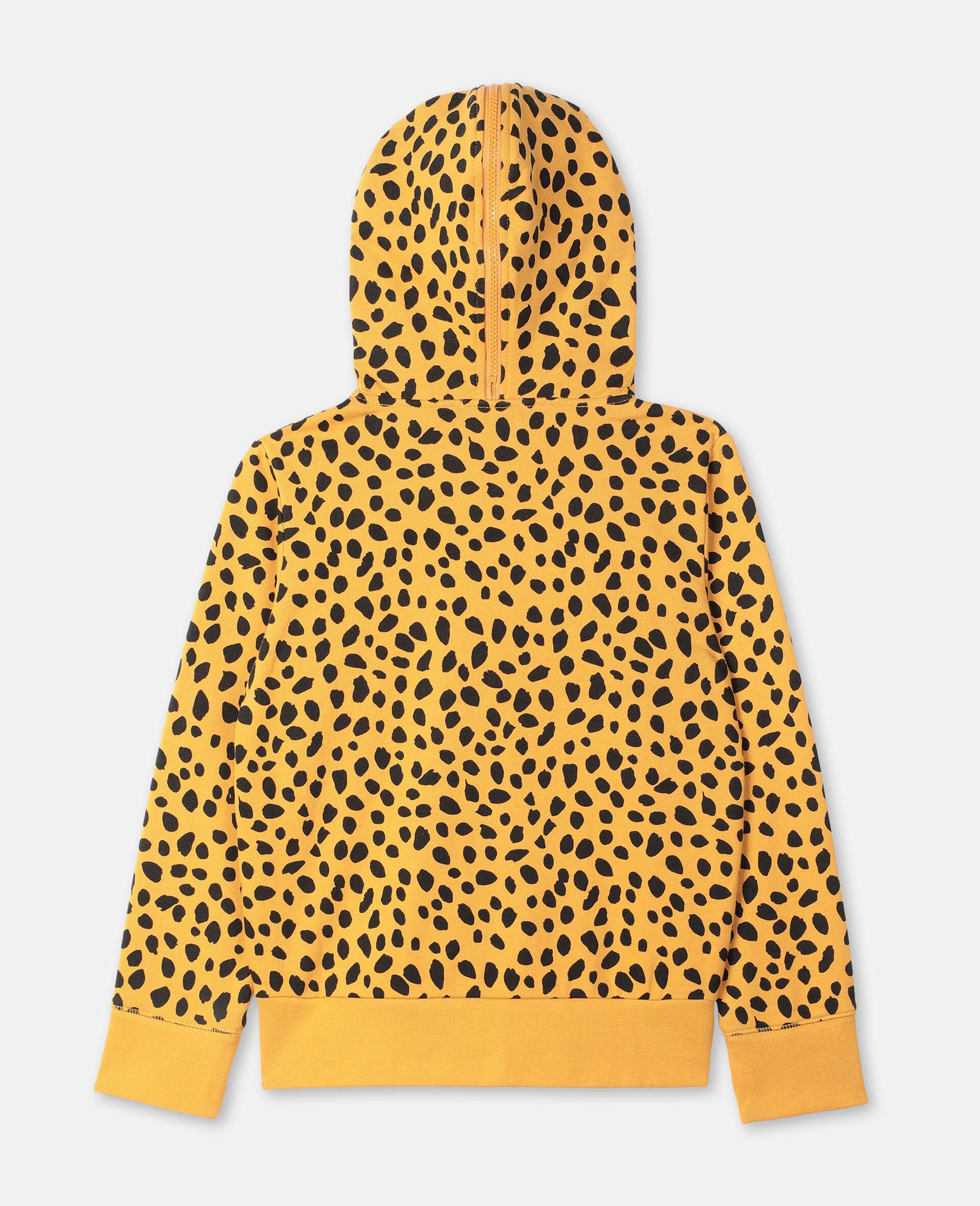 Sweat-shirt à capuche en coton à motif guépard -Fantaisie-large image number 3