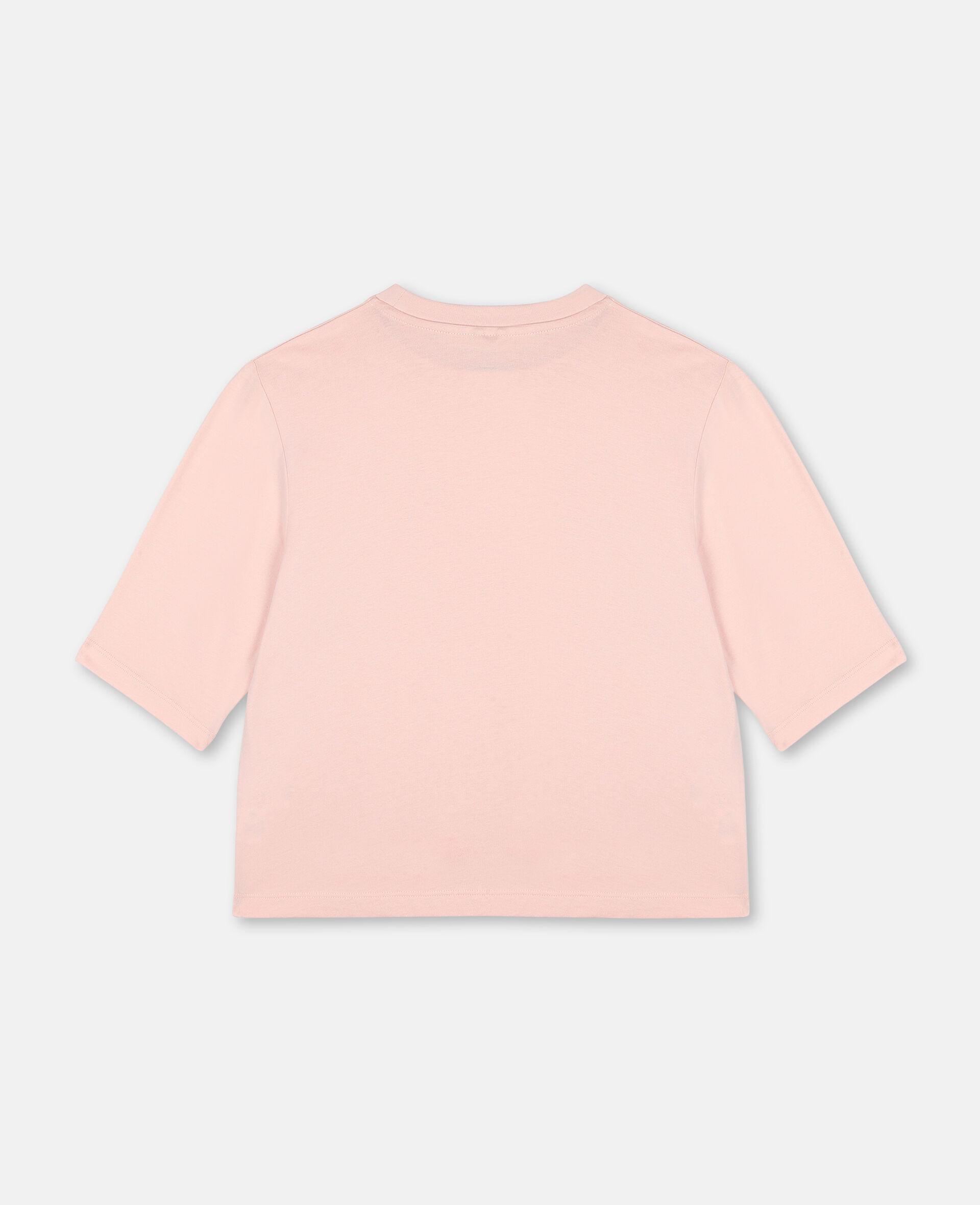 Logo Oversize Cotton Active T-shirt -Pink-large image number 3