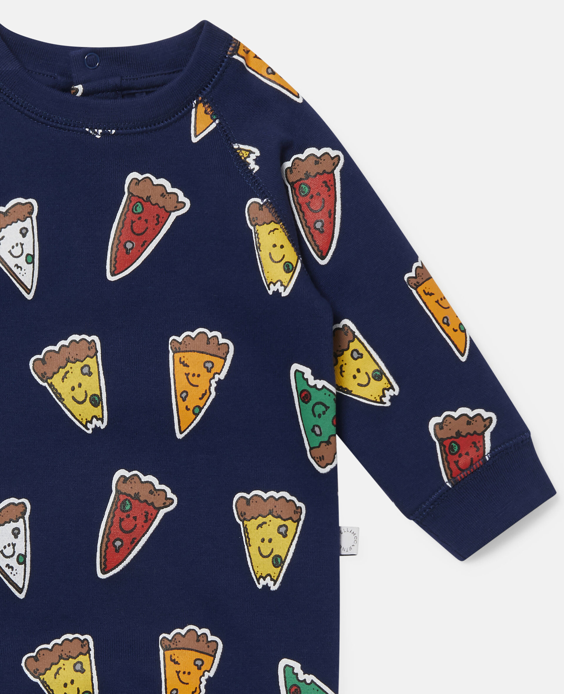 Combinaison en polaire motif pizza-Bleu-large image number 2
