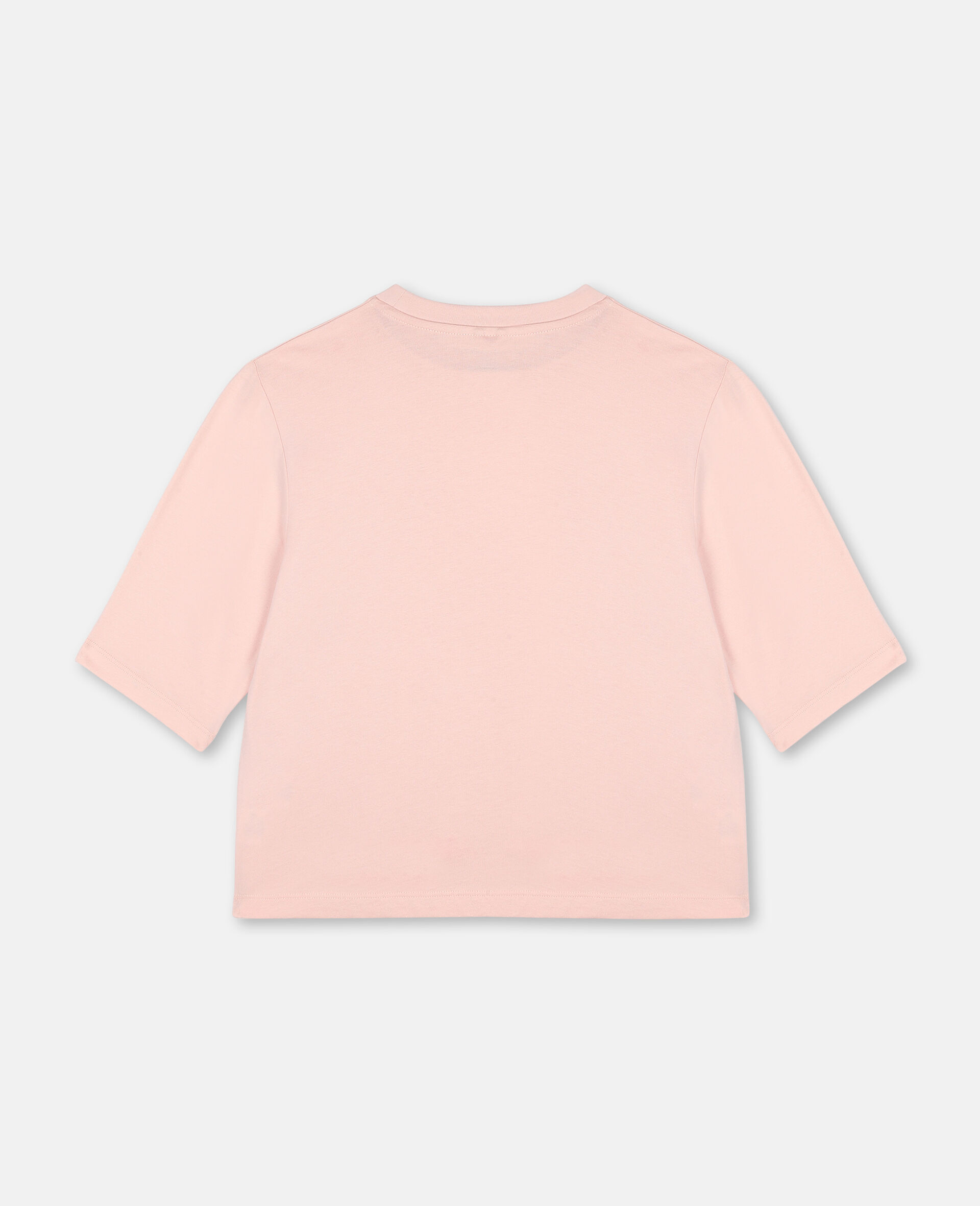 T-shirt de sport en coton oversize avec logo -Rose-large image number 3