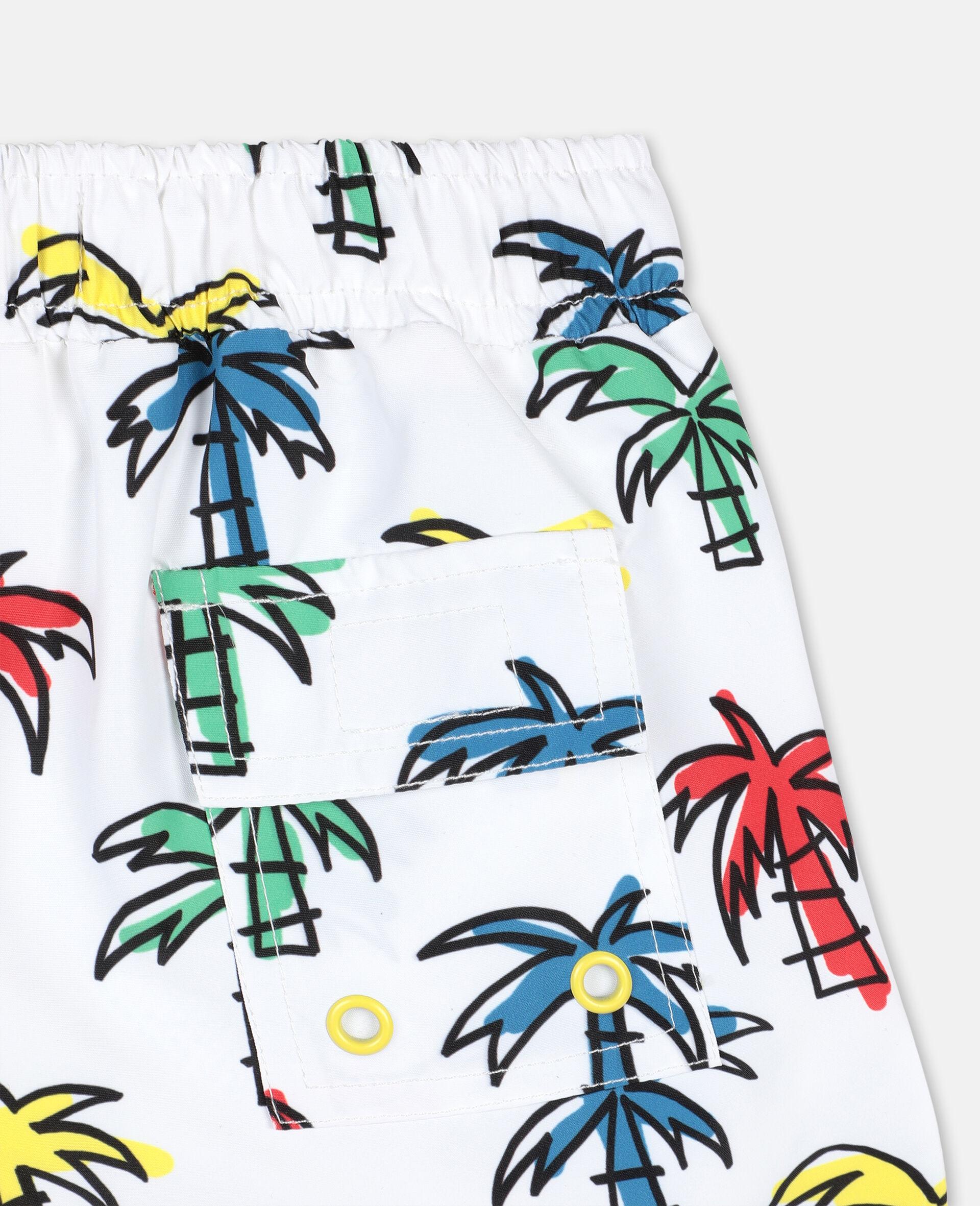 Doodly Palm Trees Swim Shorts-Multicolour-large image number 2