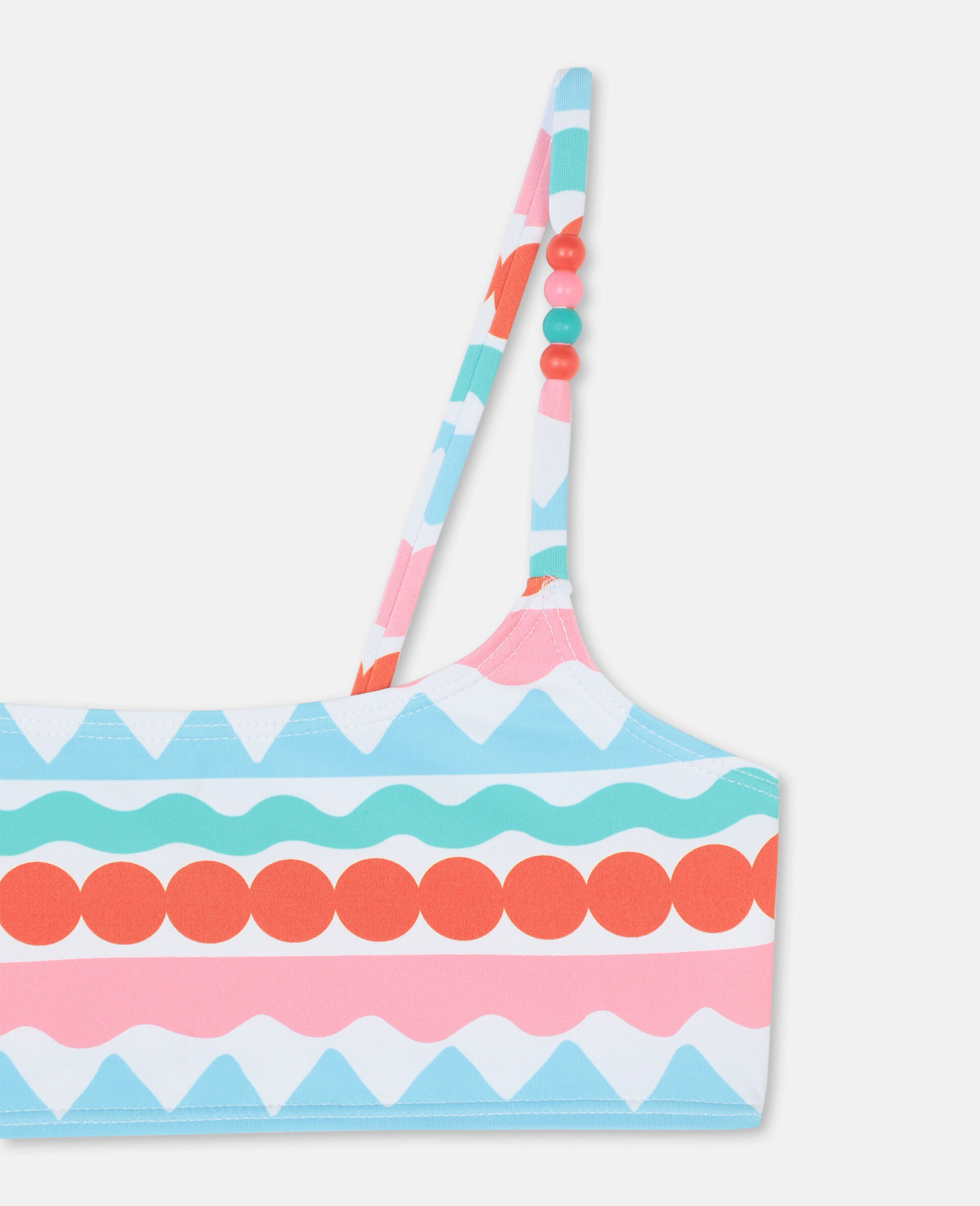 Graphic Stripes Bikini -Multicolour-large image number 1