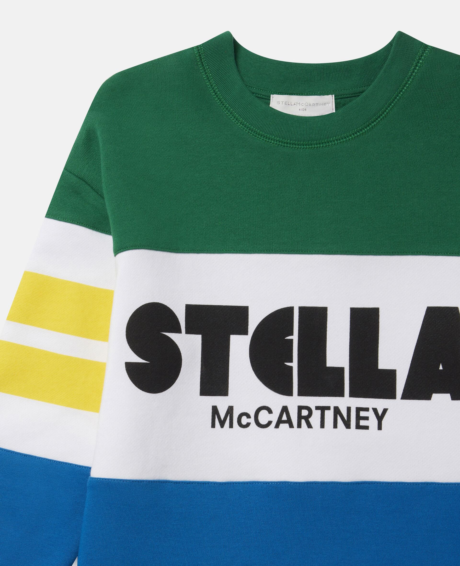 Oversized Logo Fleece Sweatshirt-Multicolour-large image number 1