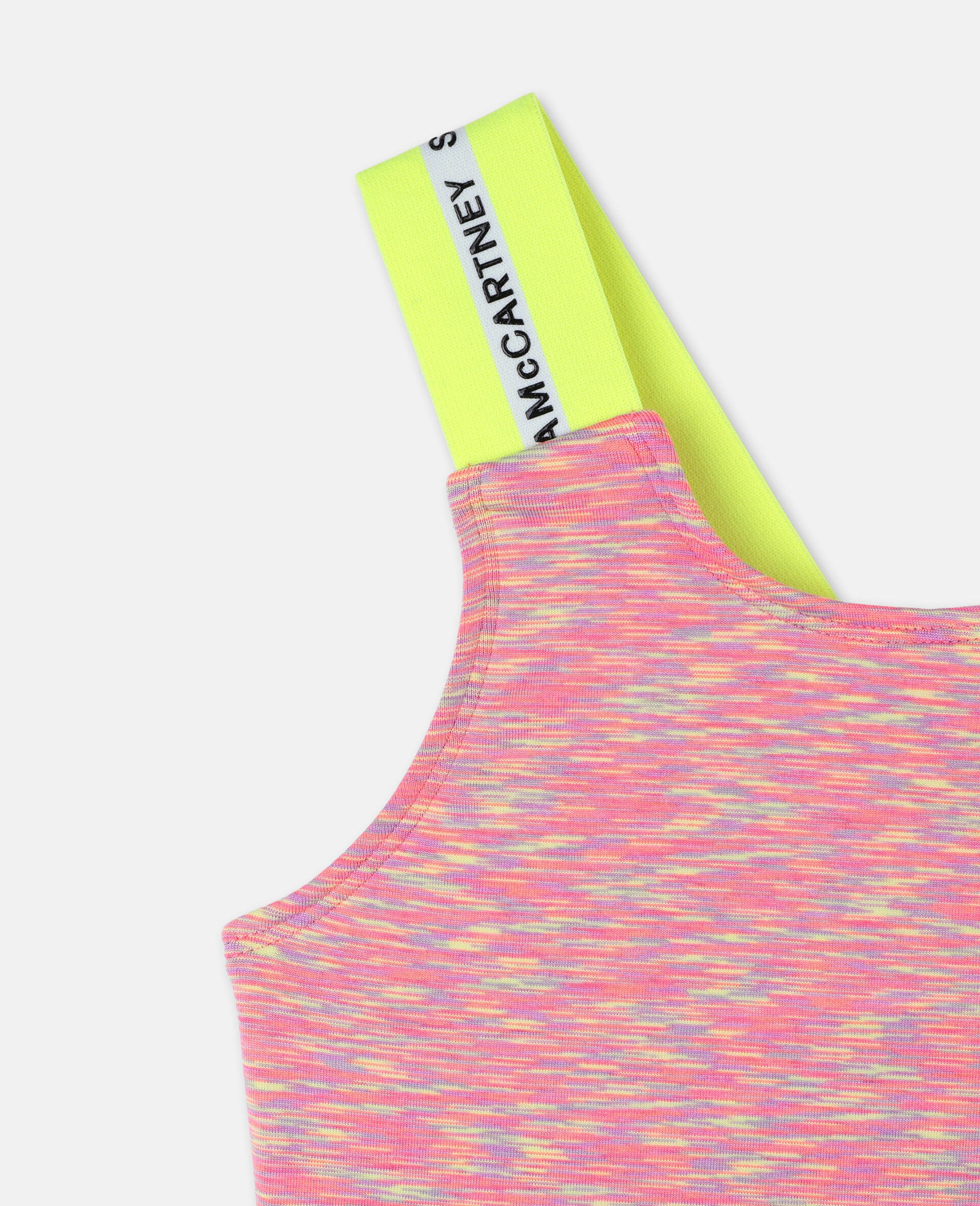 Logo Space Dye Jersey Active Bra-Multicoloured-large image number 1
