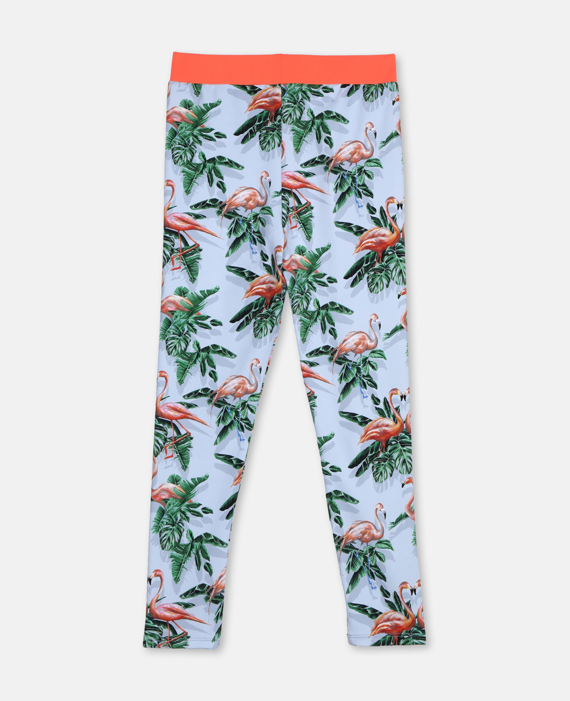 Painty Flamingo Leggings-Green-large image number 3