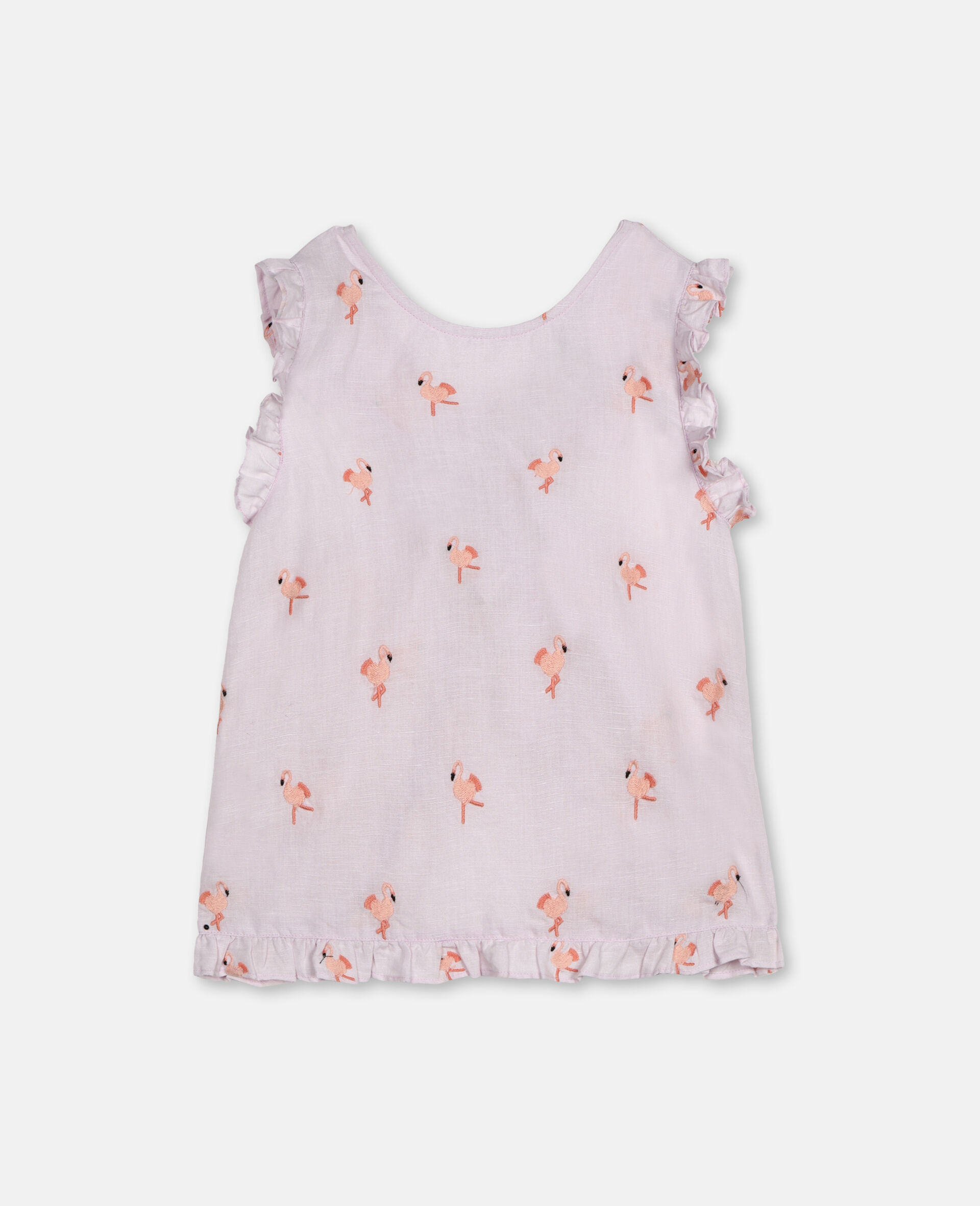 Embroidered Flamingo Top -Pink-large image number 3