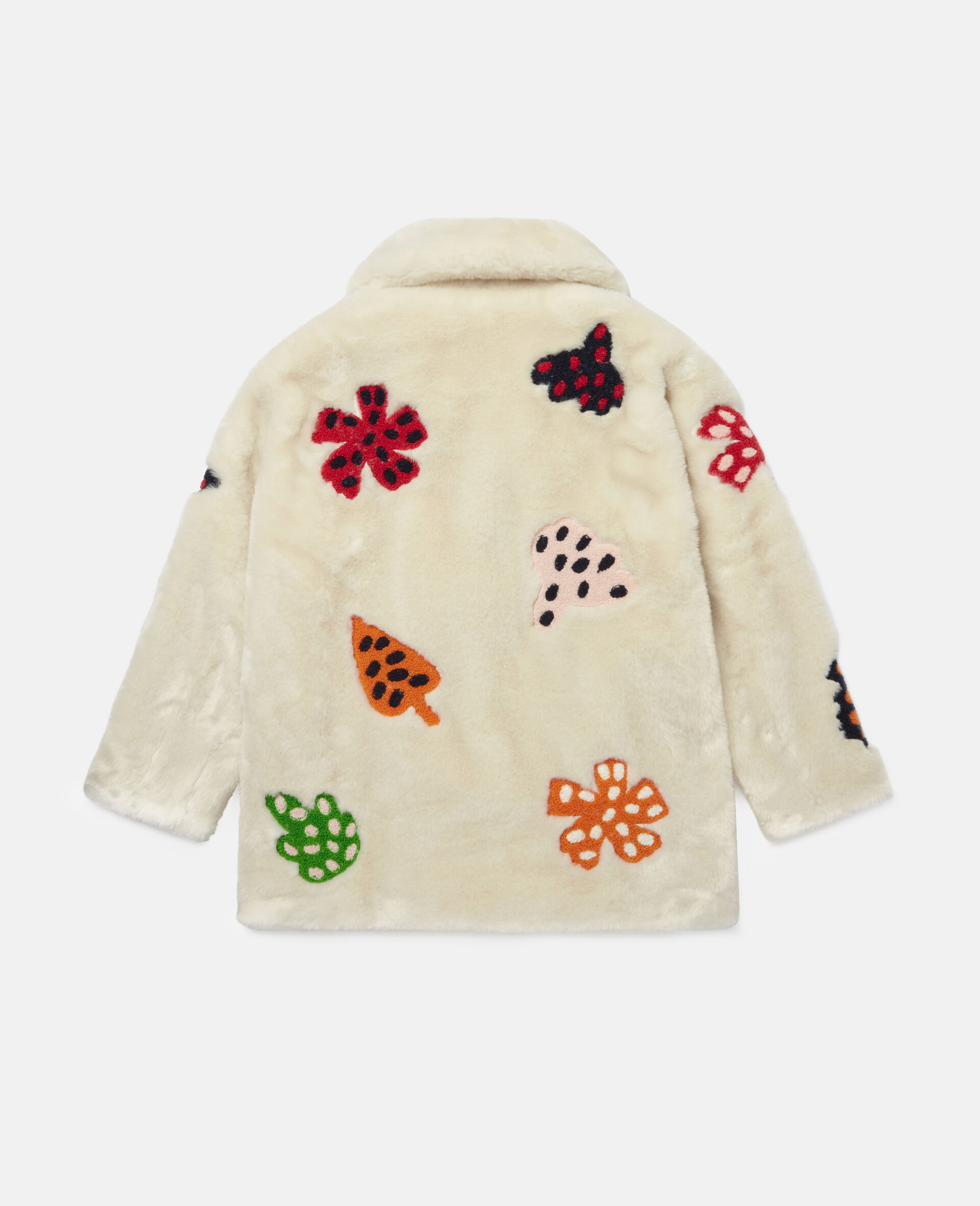 Embroidered Spotty Leaves FFF Jacket -White-large image number 3
