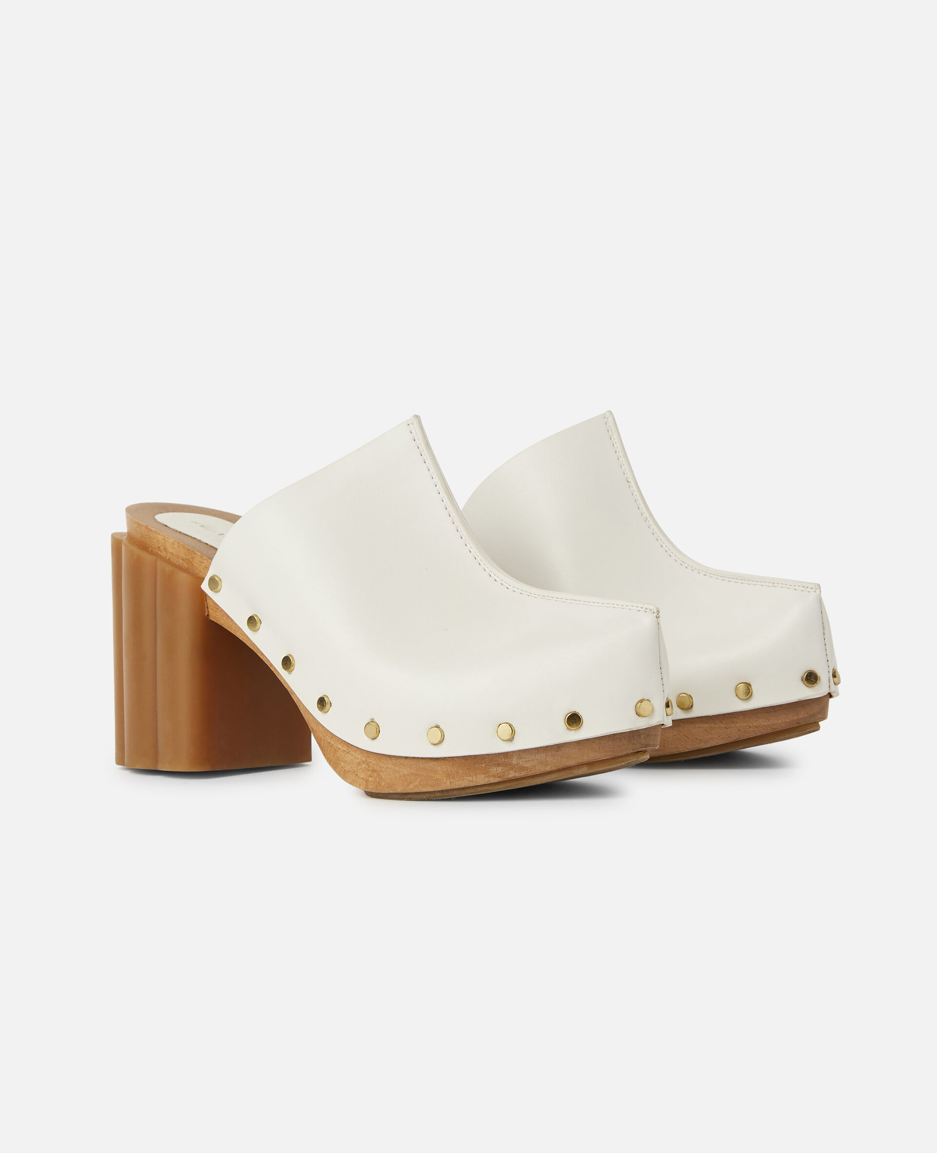 Daisy Stud Hardware Sandals-White-large image number 1