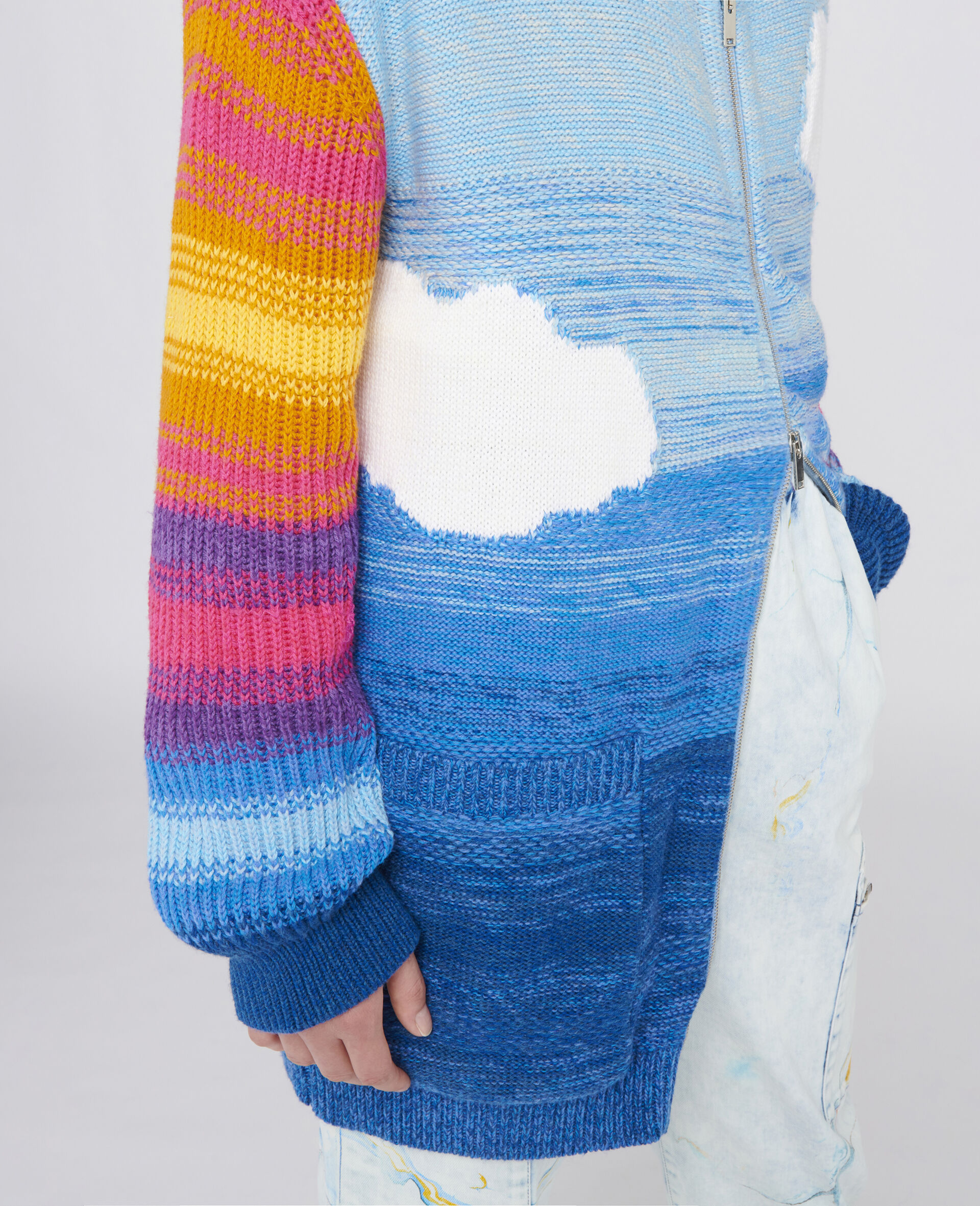 Kind Intarsia Cardigan-Multicolour-large image number 3