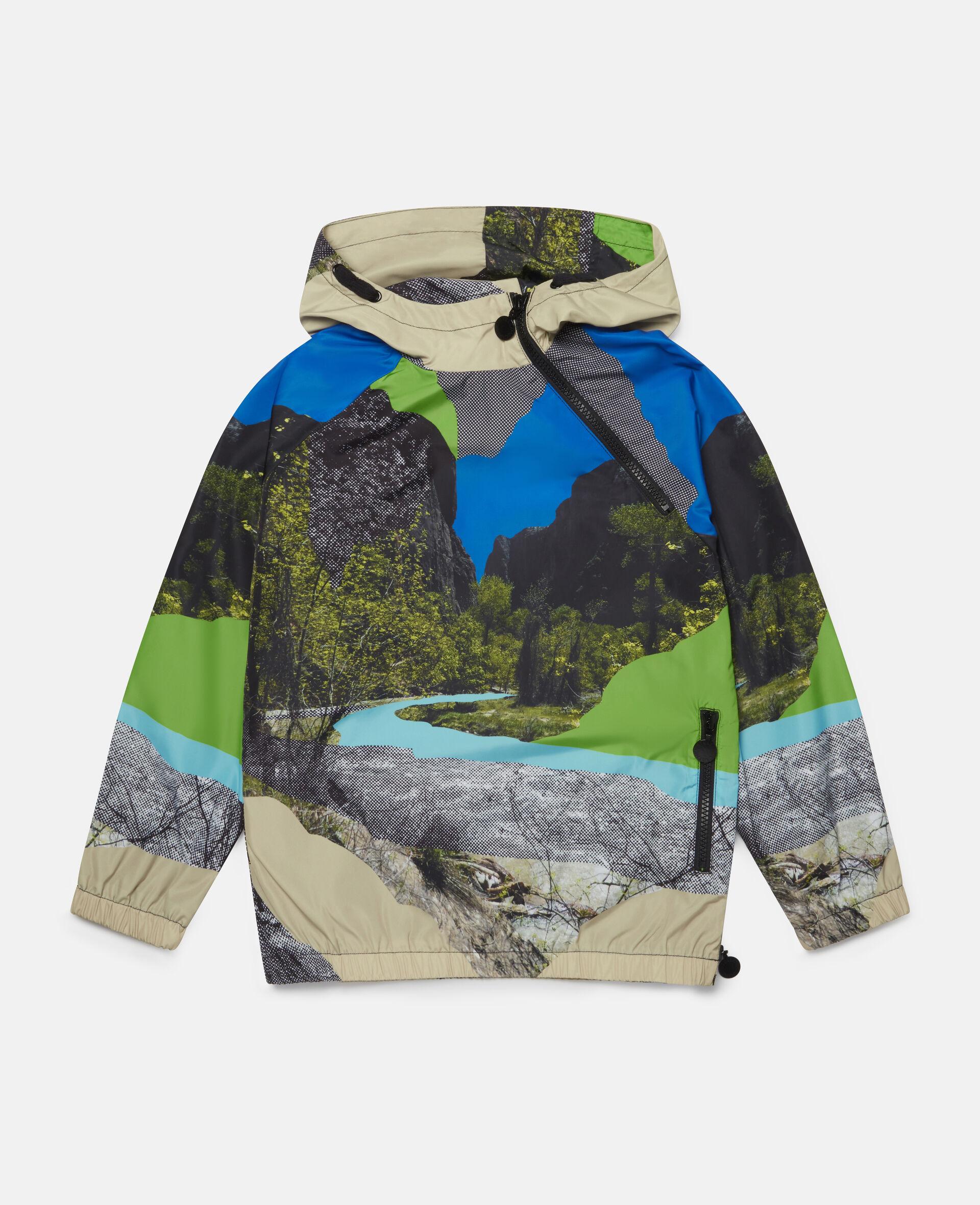 Landscape Hooded Jacket-Multicolour-large image number 0