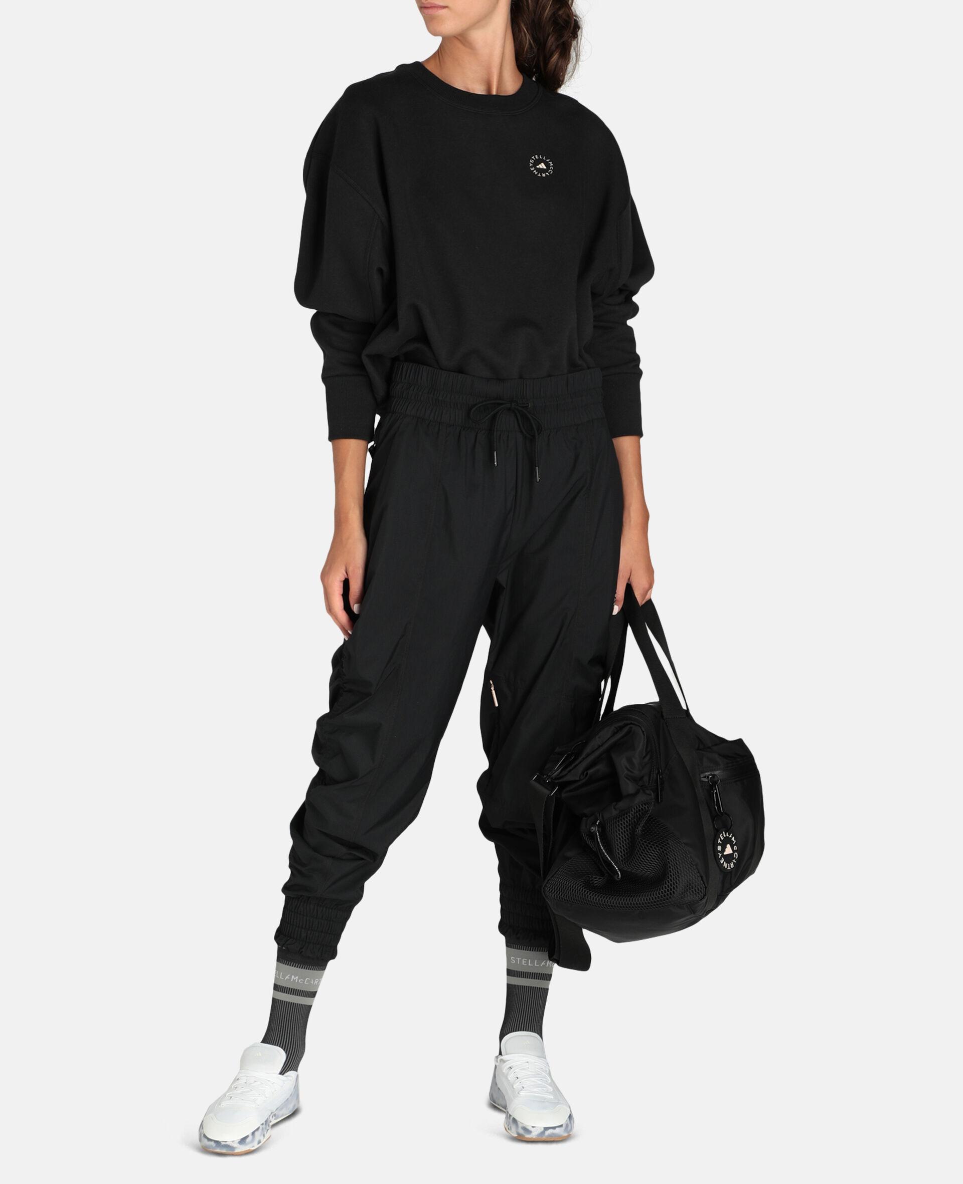 Black Woven Training Pants-Black-large image number 1
