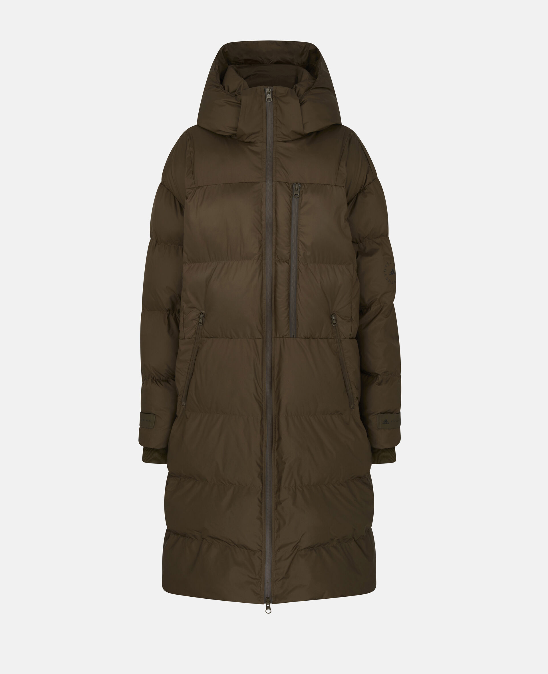 Long Training Puffer Jacket-Brown-large image number 0