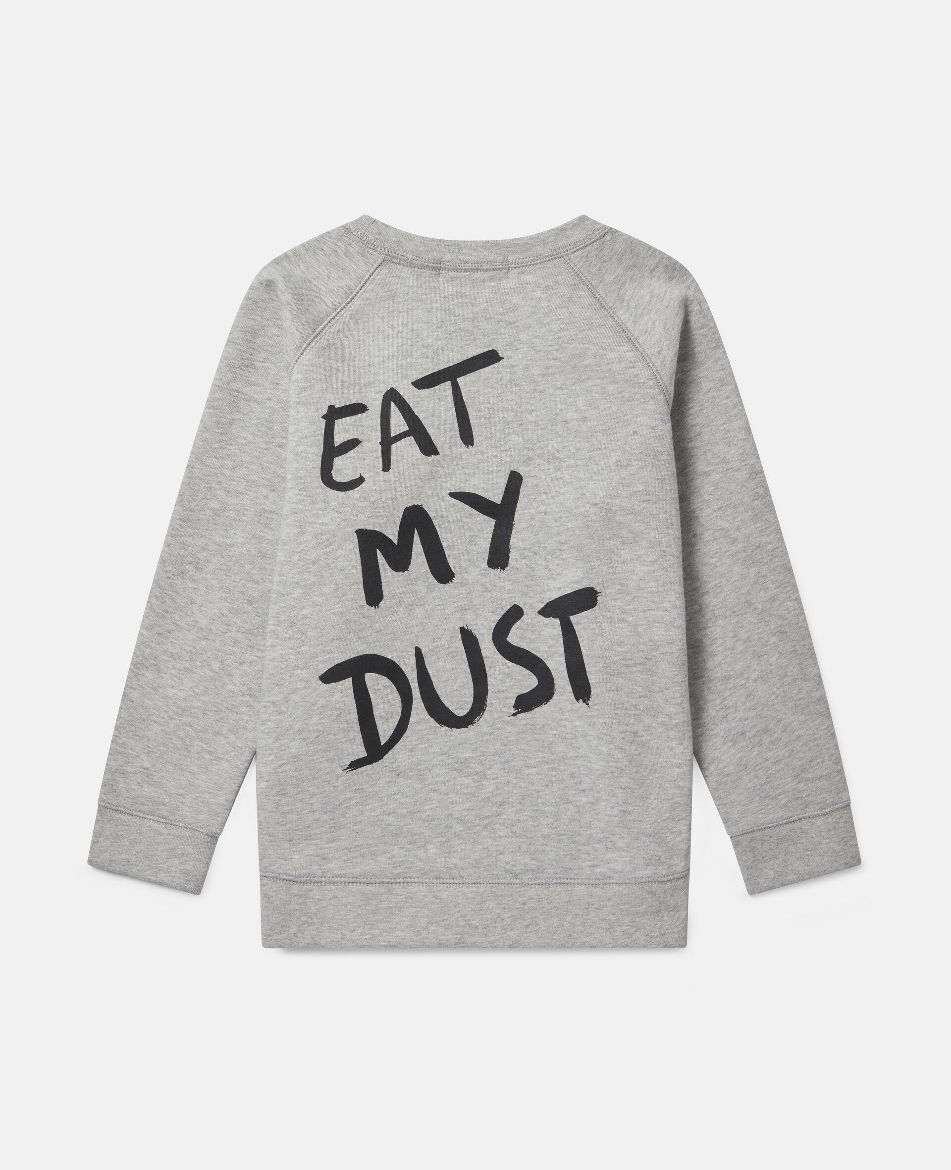 Sweat-shirt en polaire imprimé chien motard-Gris-large image number 3