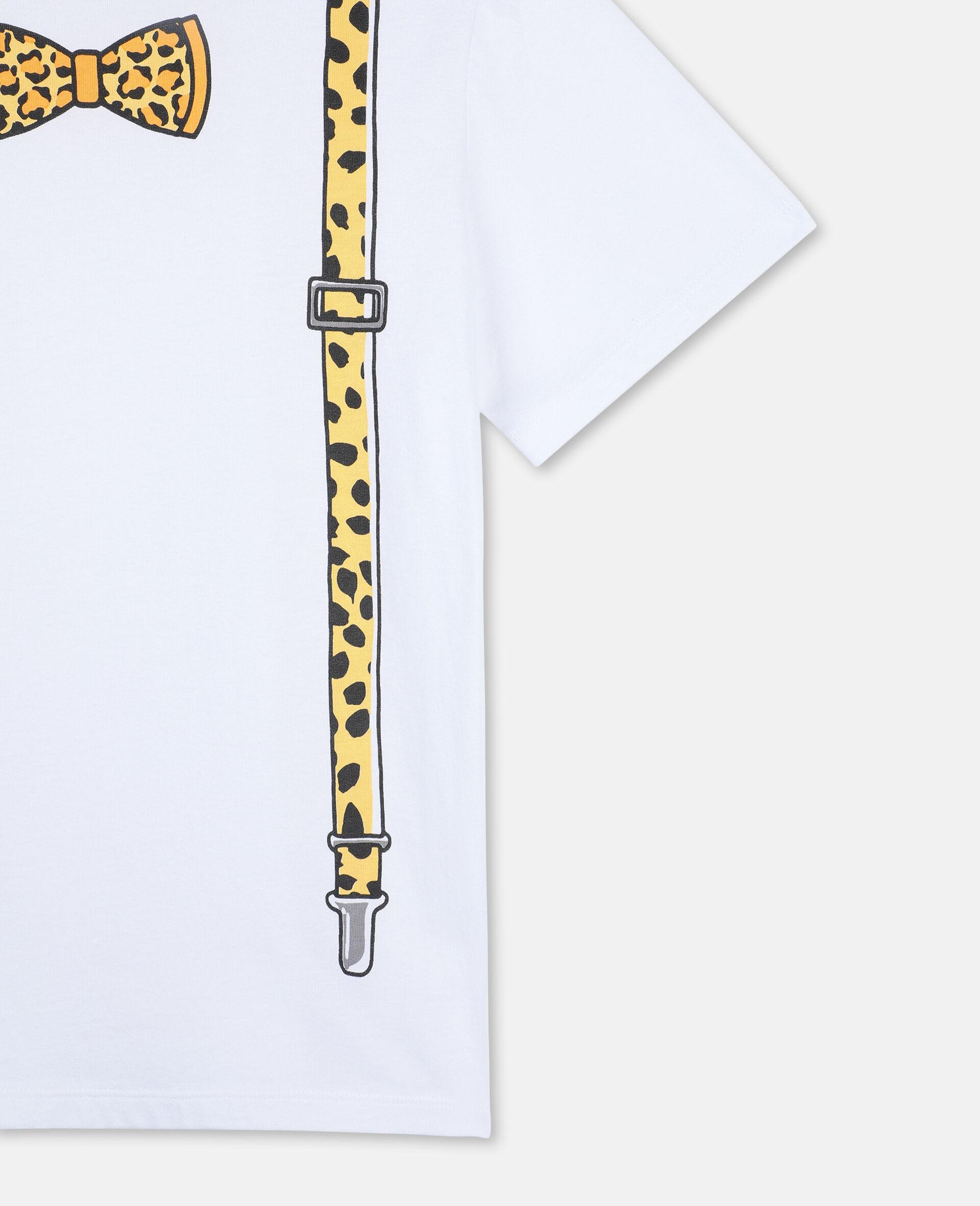 Braces Cotton T-shirt -White-large image number 2