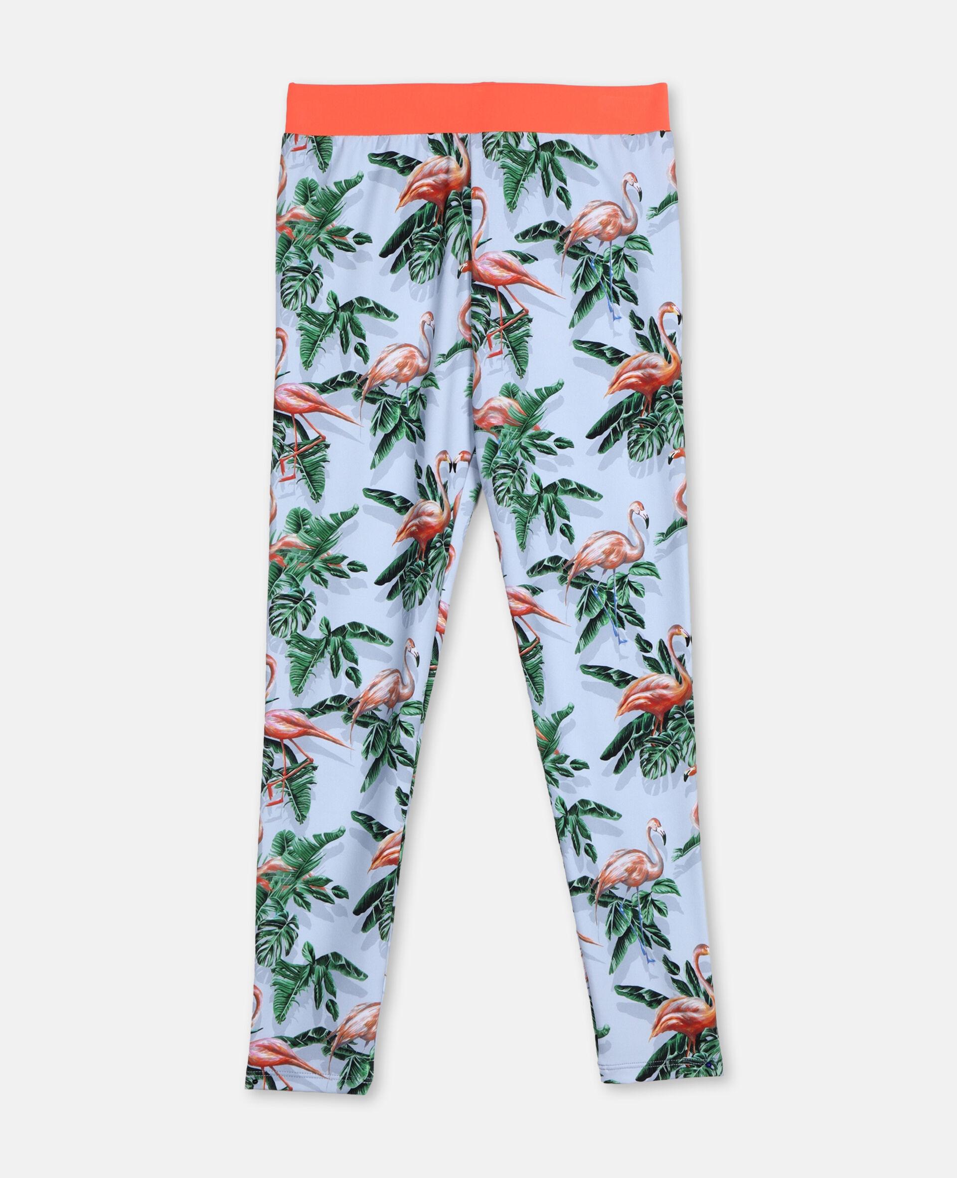 Legging à motif flamants roses effet peinture-Vert-large image number 0