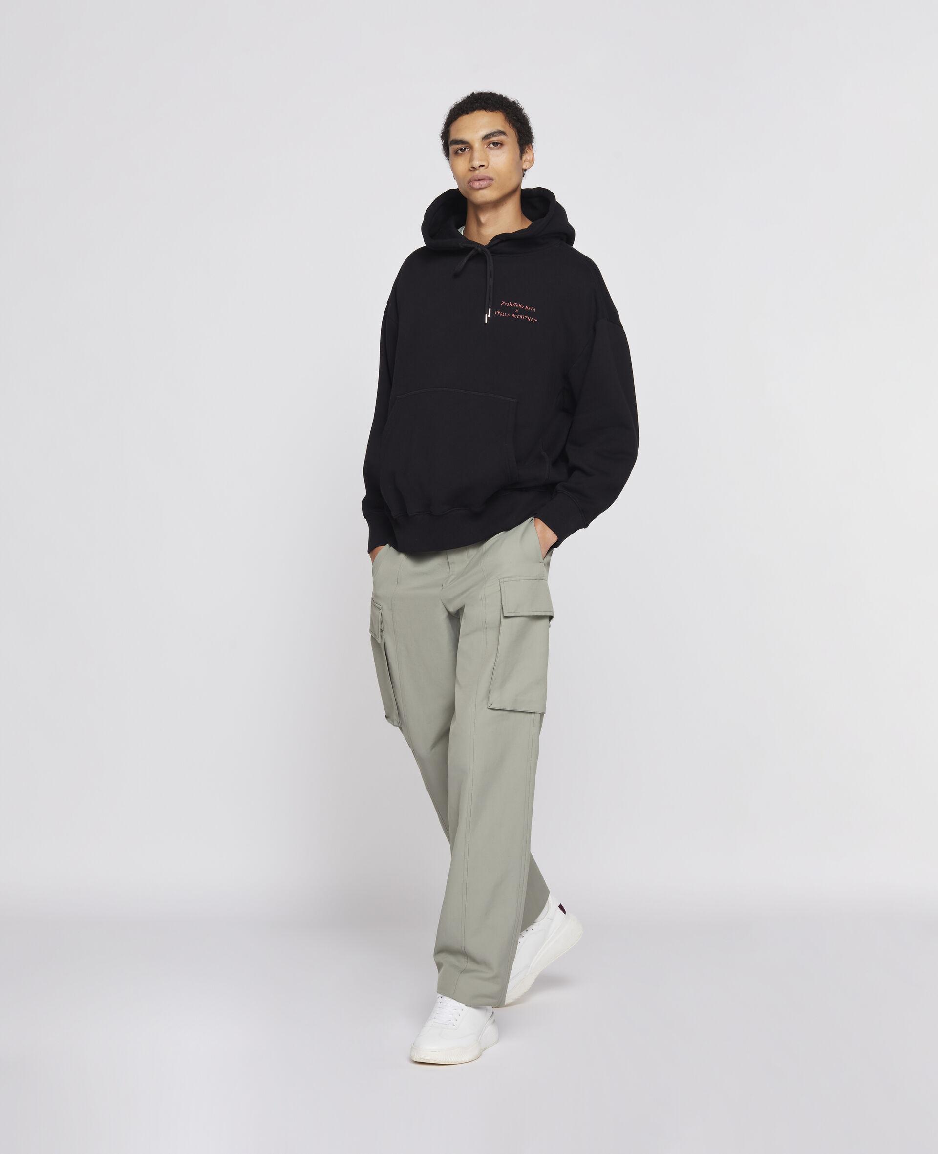 Nara Organic Cotton Hoodie-Black-large image number 3