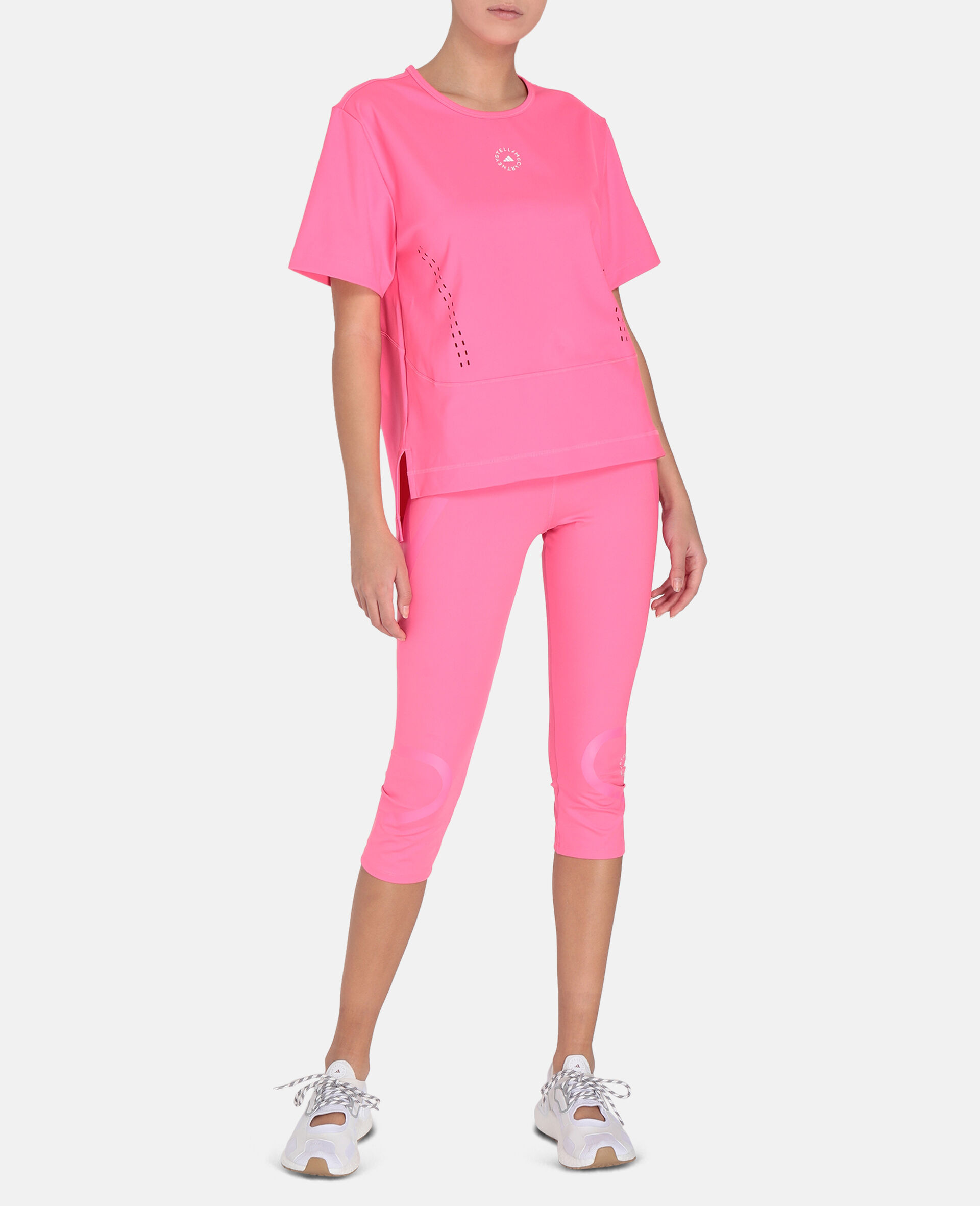 TruePace 3/4 Running Tights-Pink-large image number 1