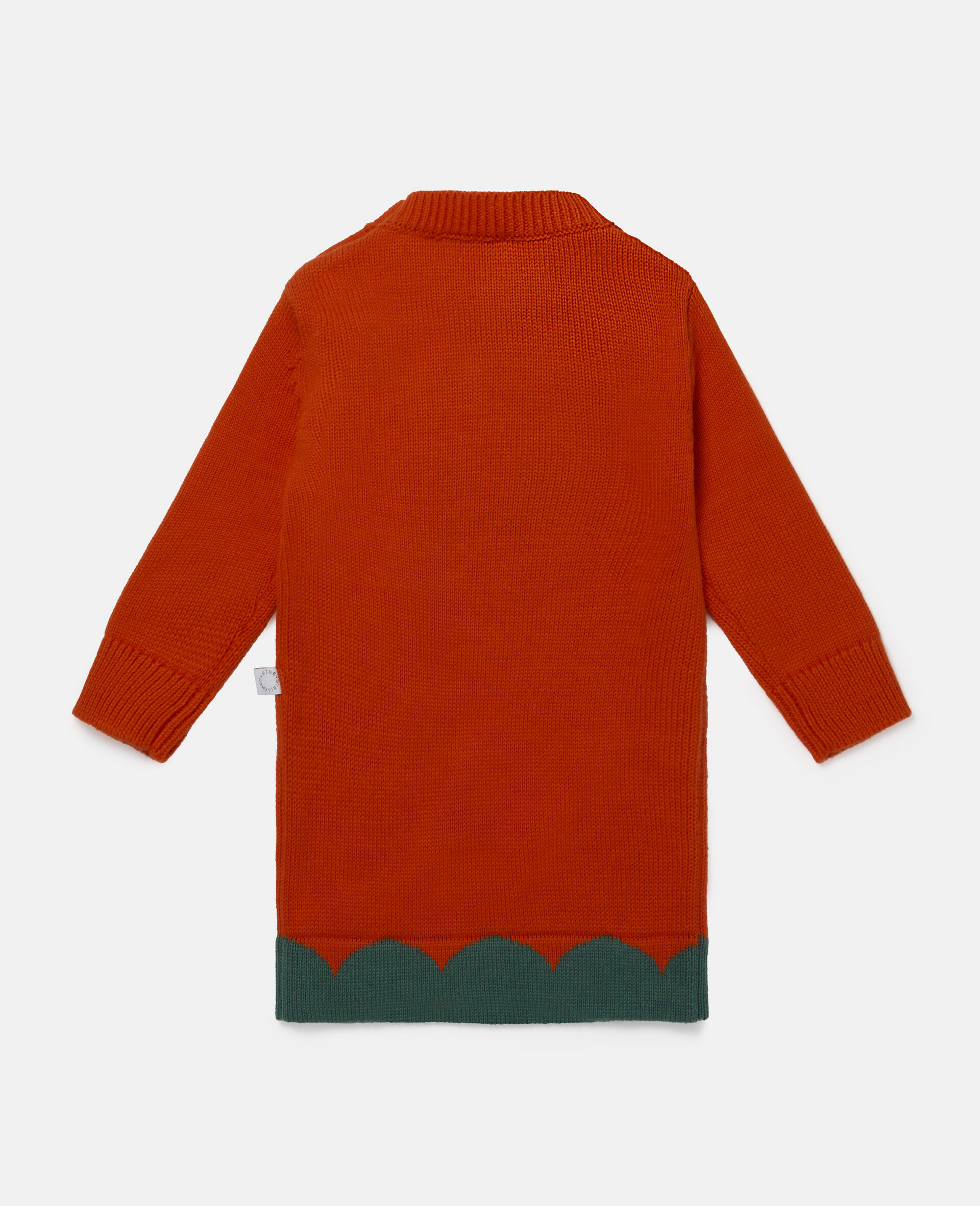 Tulip Knit Intarsia Dress-Red-large image number 3
