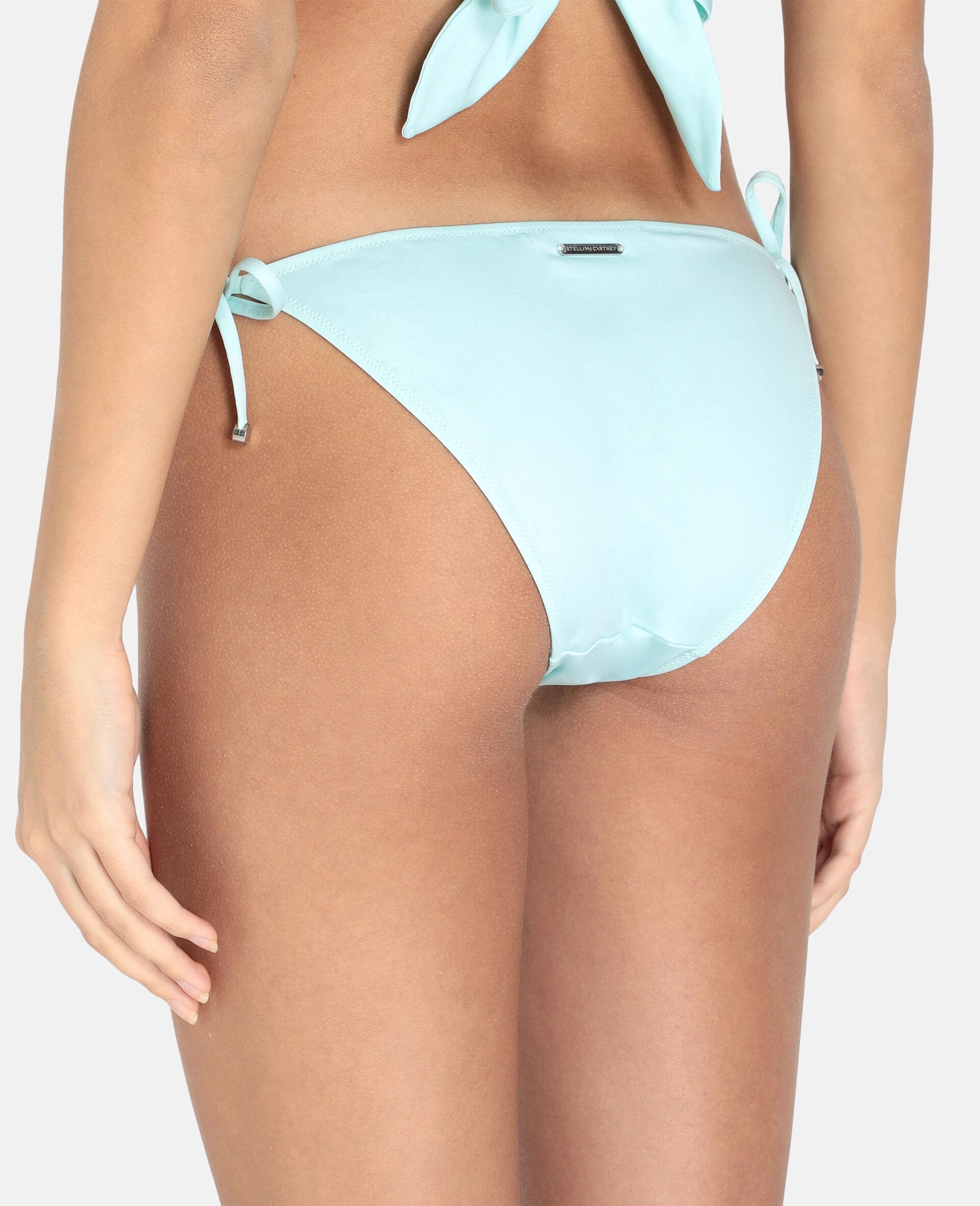 Bas de bikini à nouer à chaîne iconique-Noir-large image number 2