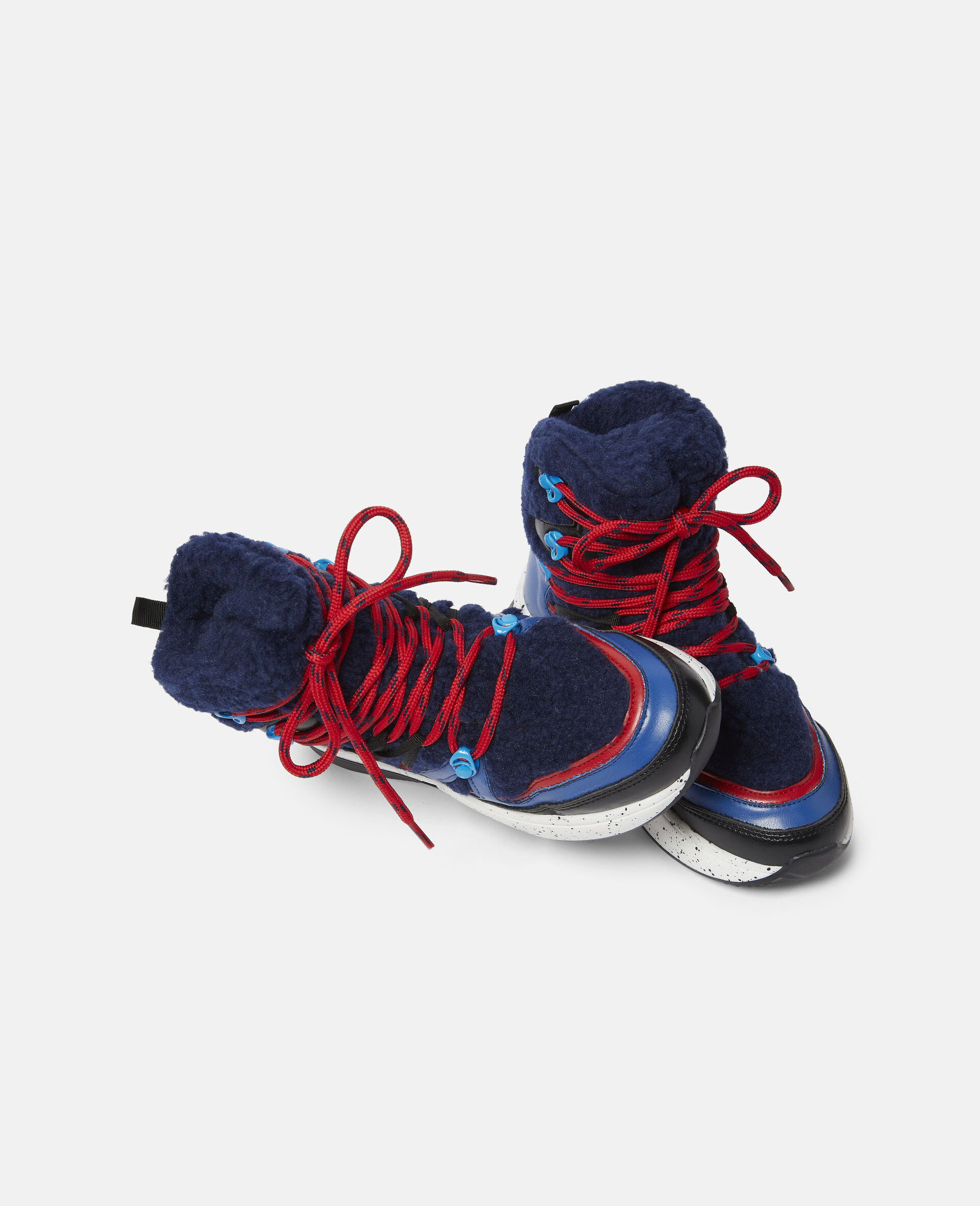 Colourblock Hiking Boots-Blue-large image number 1
