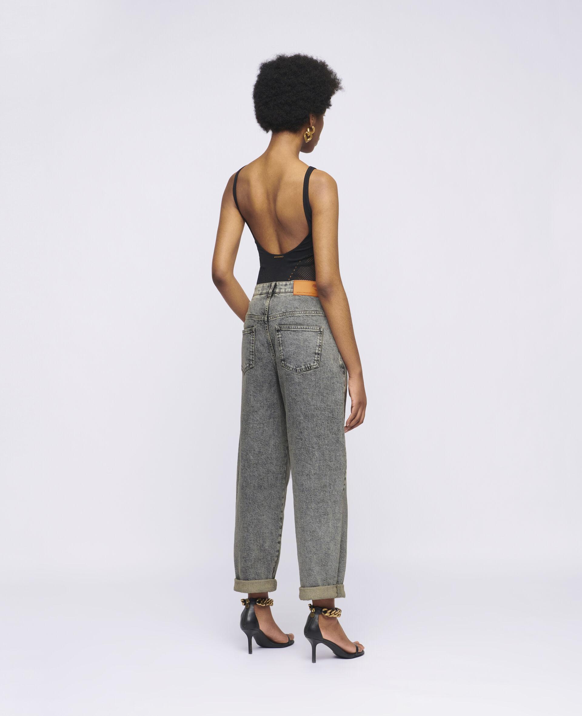 Jeans mit aufgesticktem Logo -Grau-large image number 2
