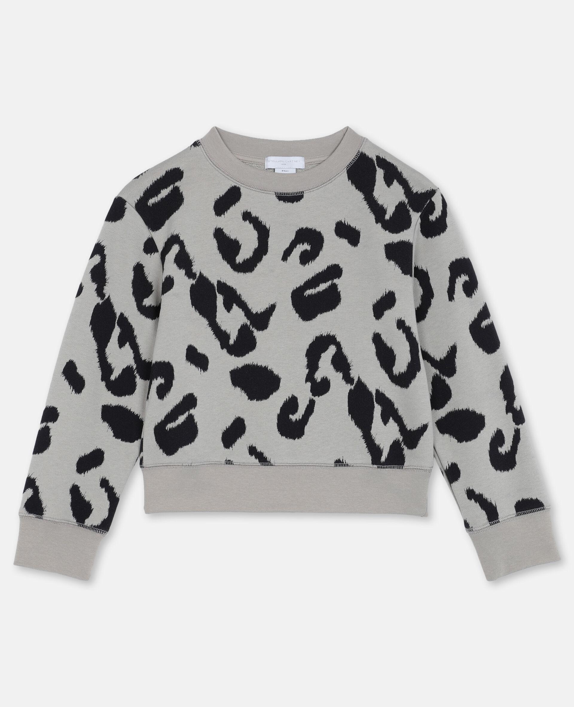 Sweat-shirt en molleton de coton léopard -Fantaisie-large image number 0
