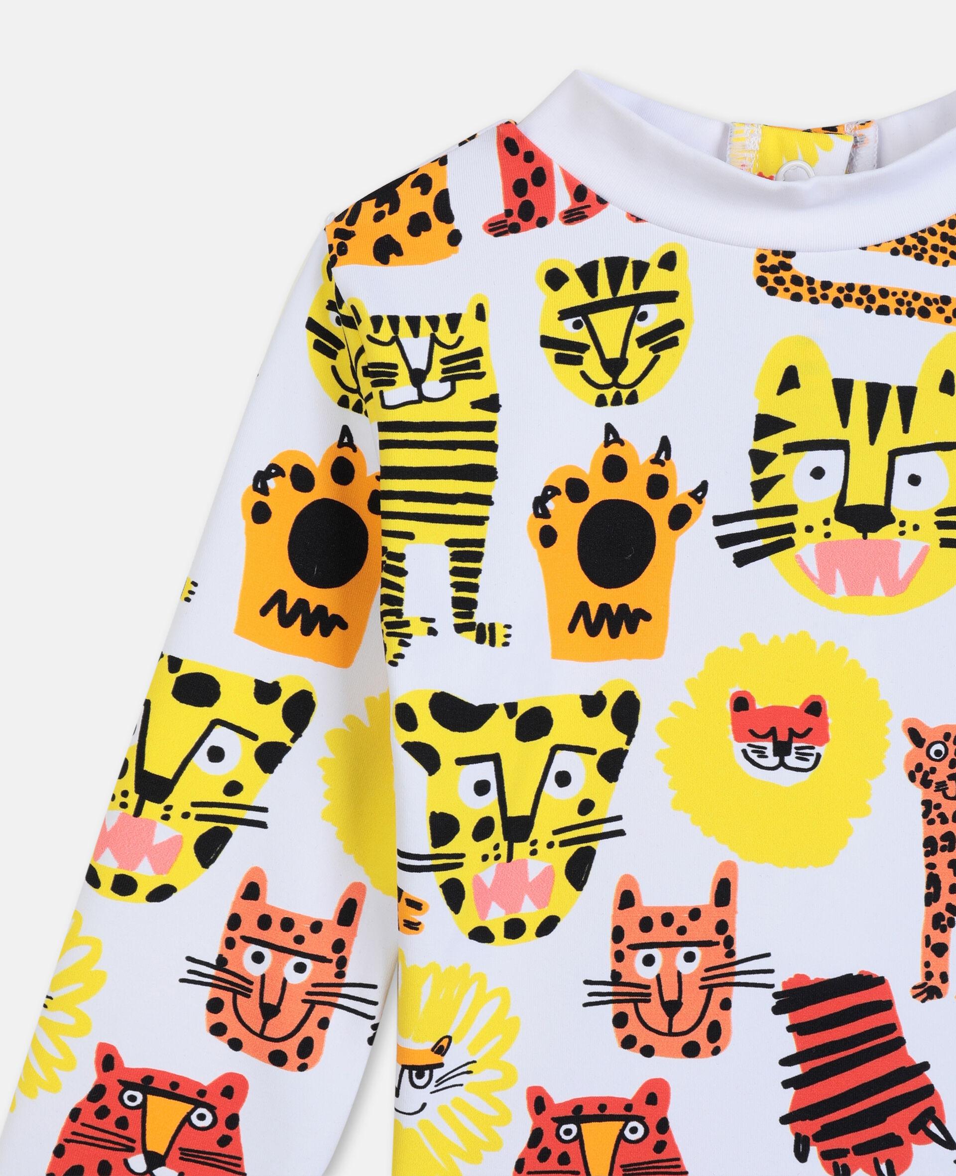 Ensemble de bain à motif chats sauvages -Jaune-large image number 1