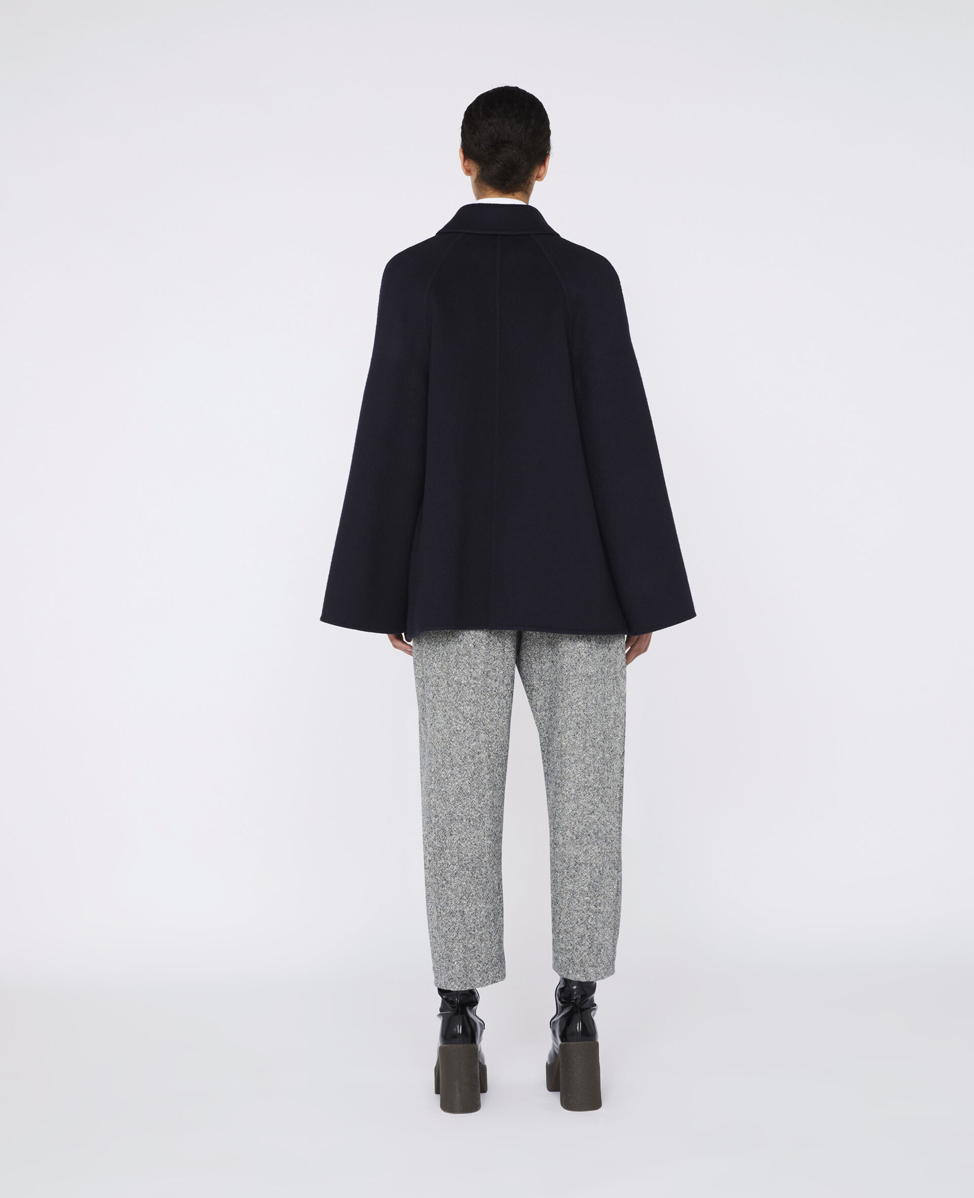 Wool Flanel Trousers -Grey-large image number 2