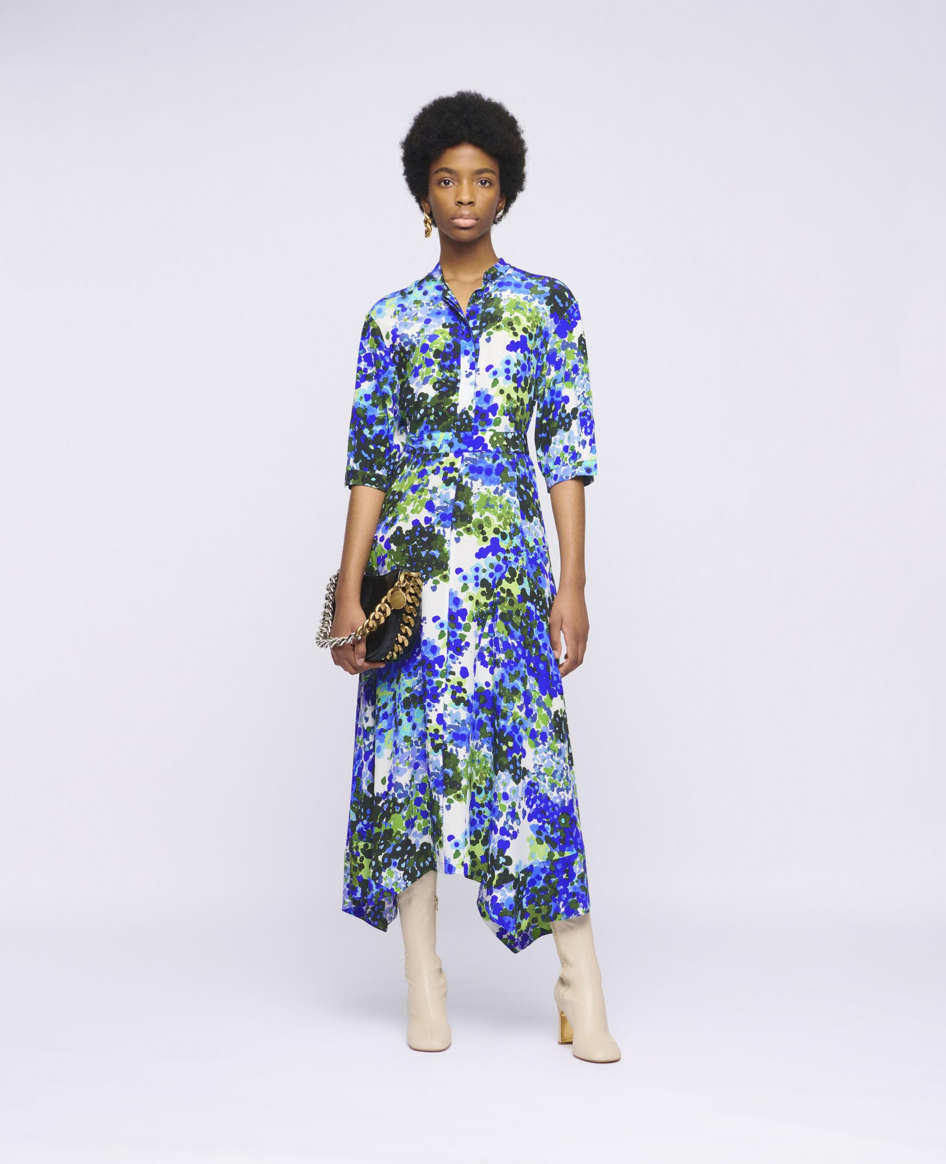 Olivia Silk Dress-Multicolour-large image number 1
