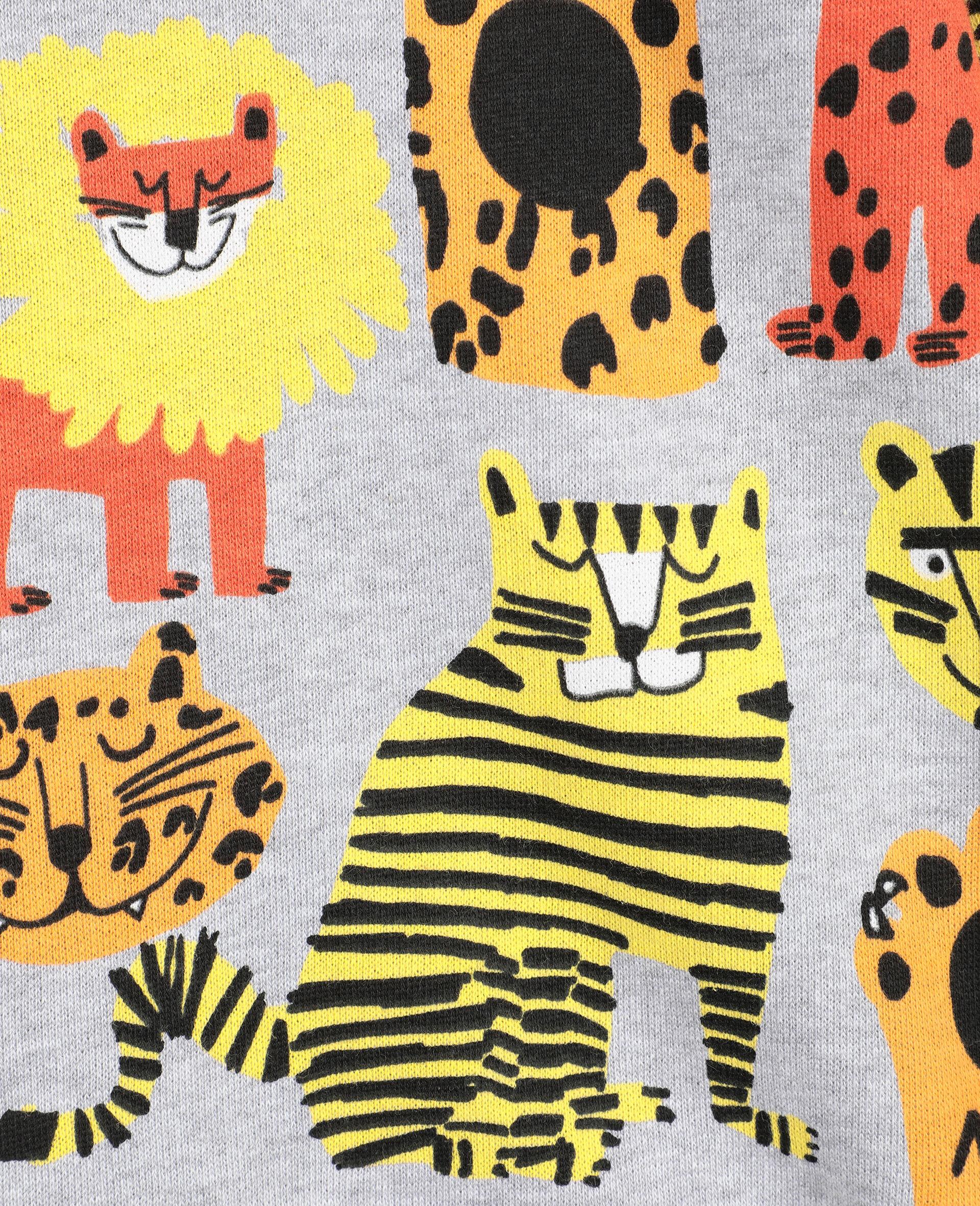 Baumwollsweatshirt mit Wildkatzen-Print -Bunt-large image number 1
