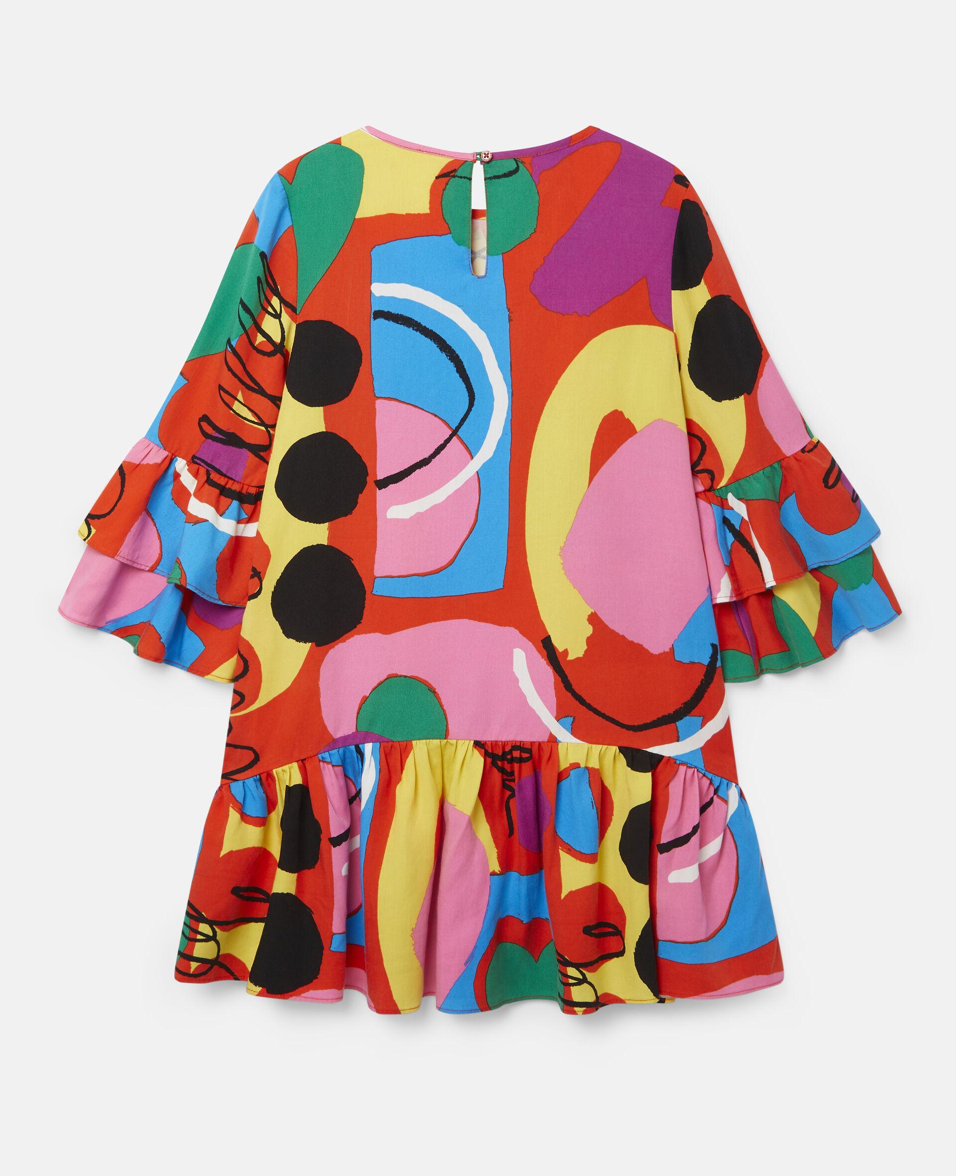 彩绘天丝斜纹布连衣裙-Multicolored-large image number 3