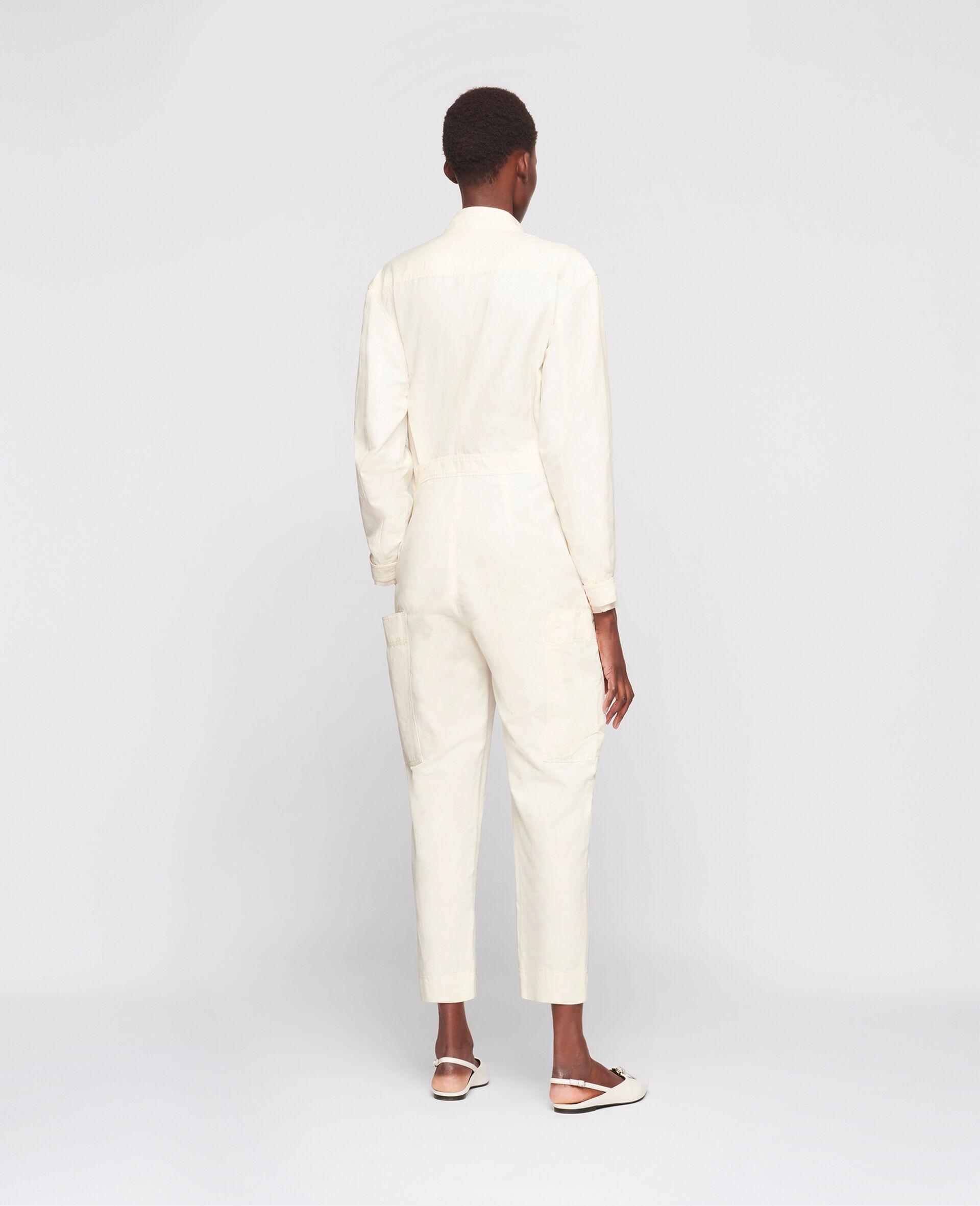Combinaison Alessia en coton compact -Blanc-large image number 2