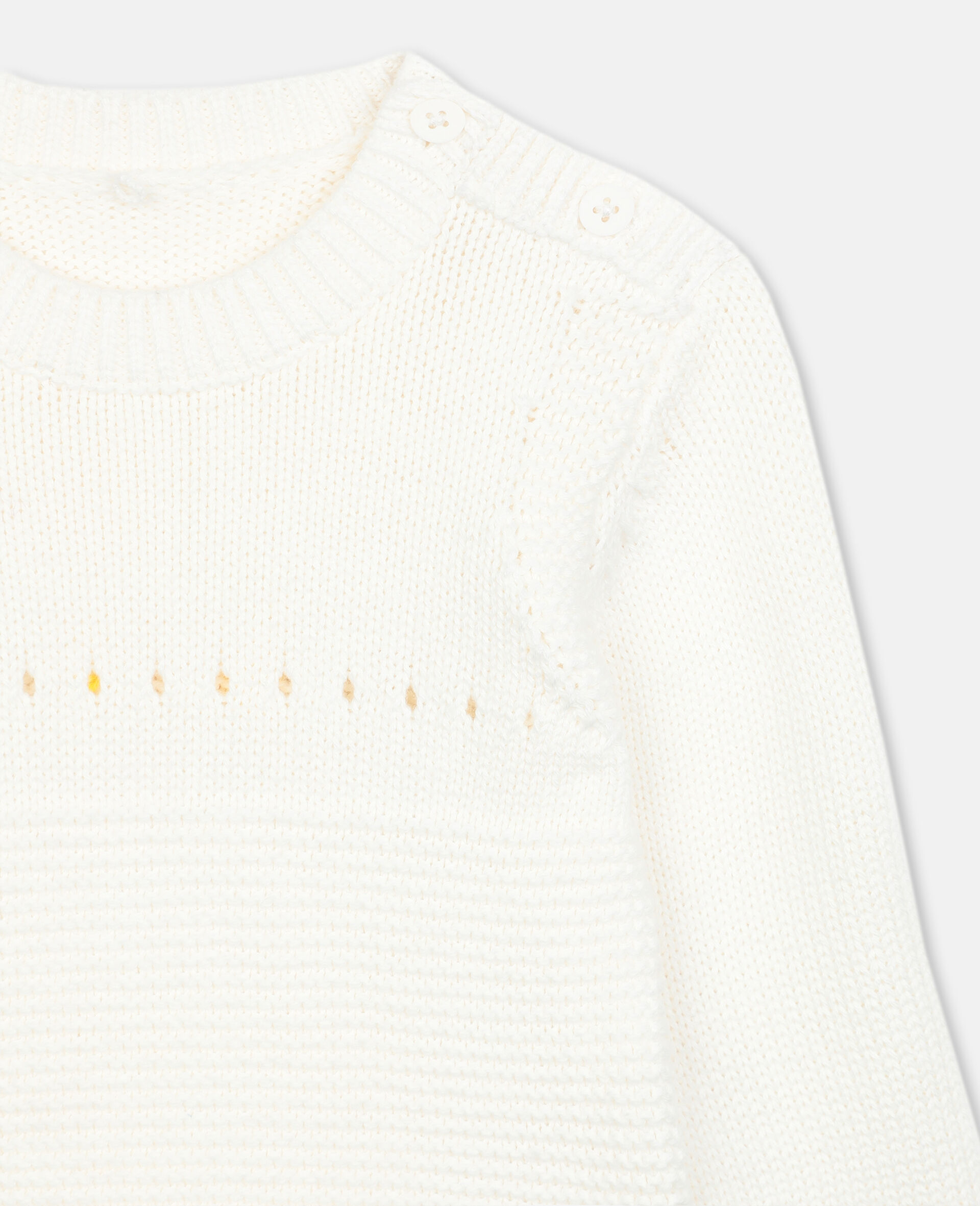 Bunny Knit Sweater -White-large image number 1